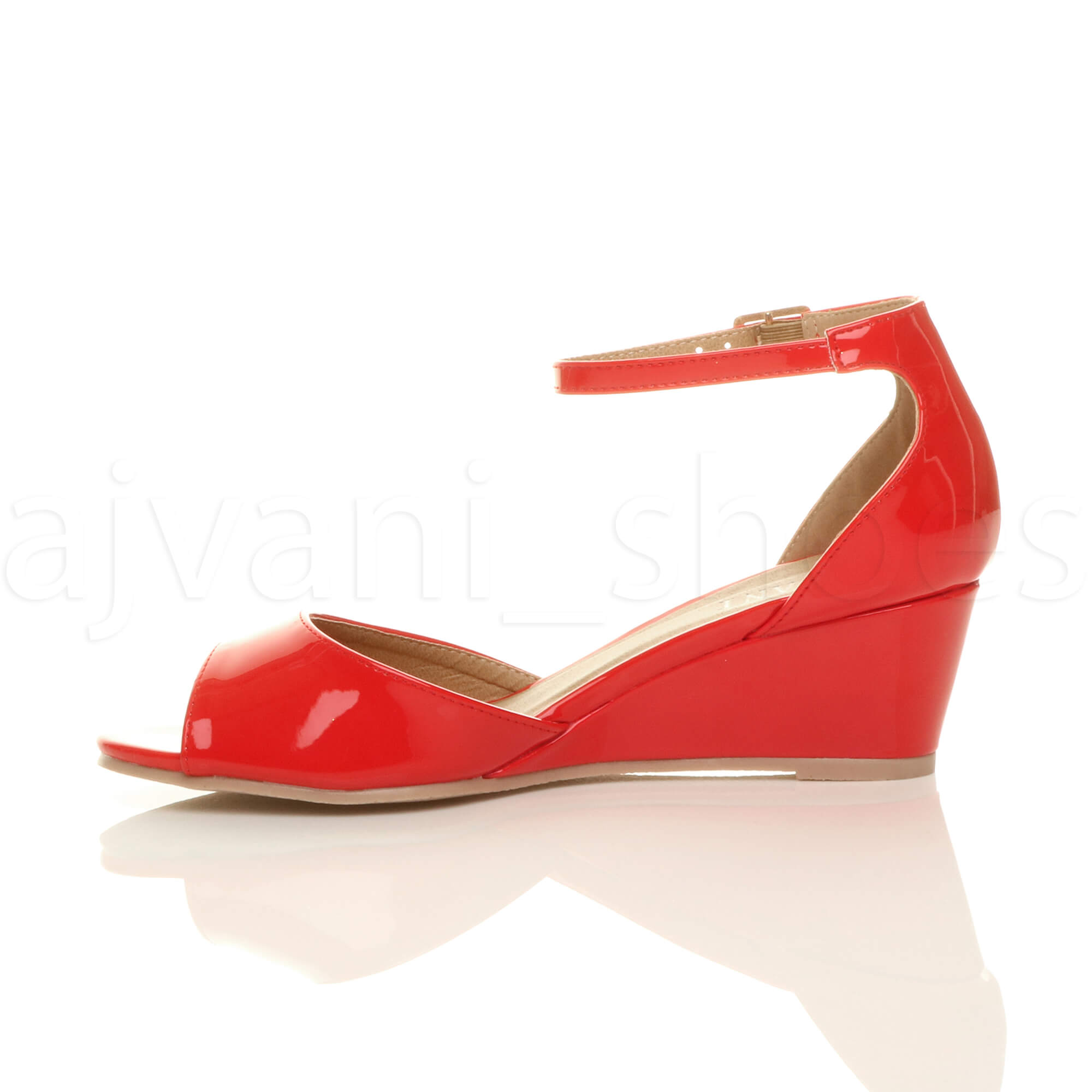 WOMENS-LADIES-LOW-MID-WEDGE-HEEL-ANKLE-STRAP-SMART-CASUAL-EVENING-SANDALS-SIZE thumbnail 116