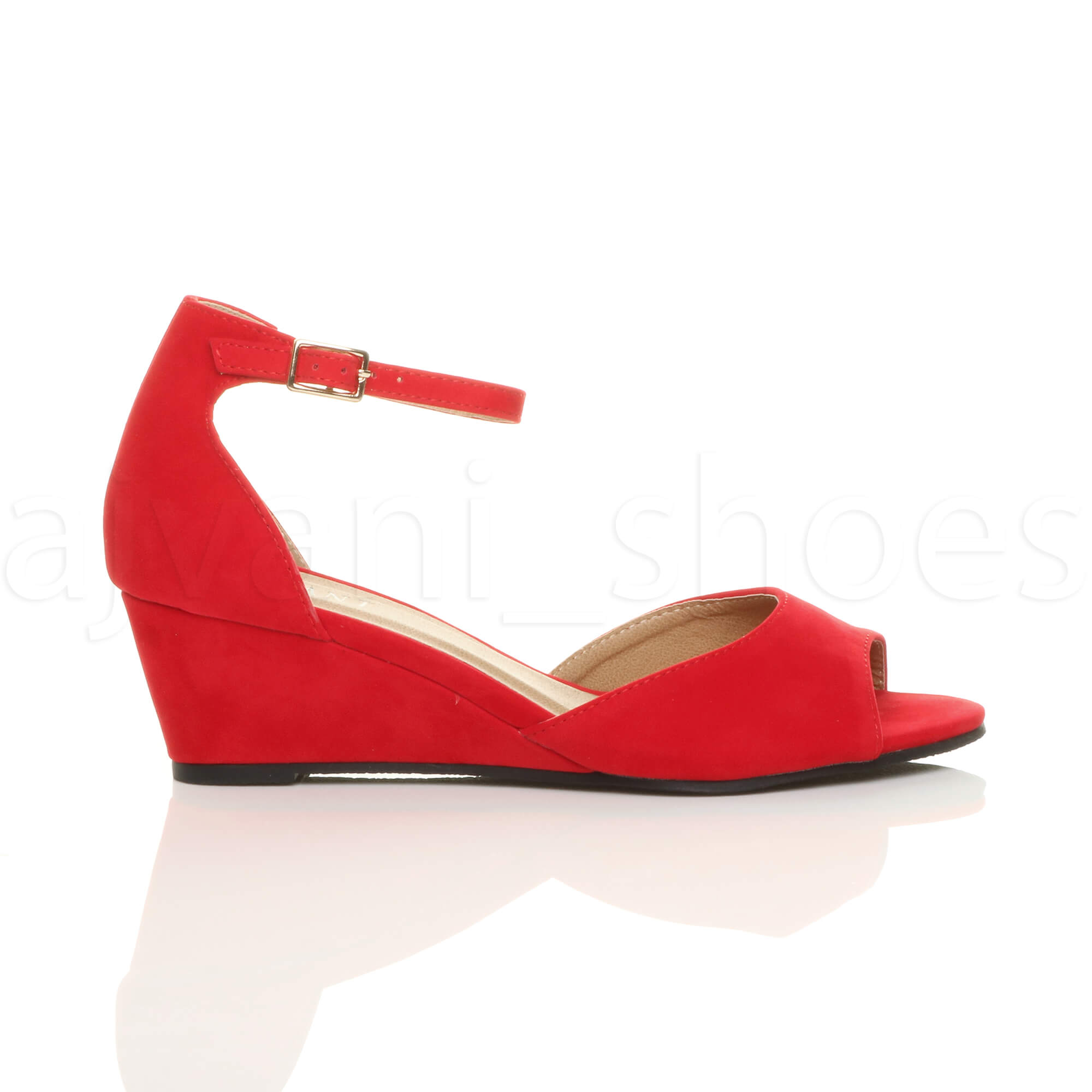 WOMENS-LADIES-LOW-MID-WEDGE-HEEL-ANKLE-STRAP-SMART-CASUAL-EVENING-SANDALS-SIZE thumbnail 123