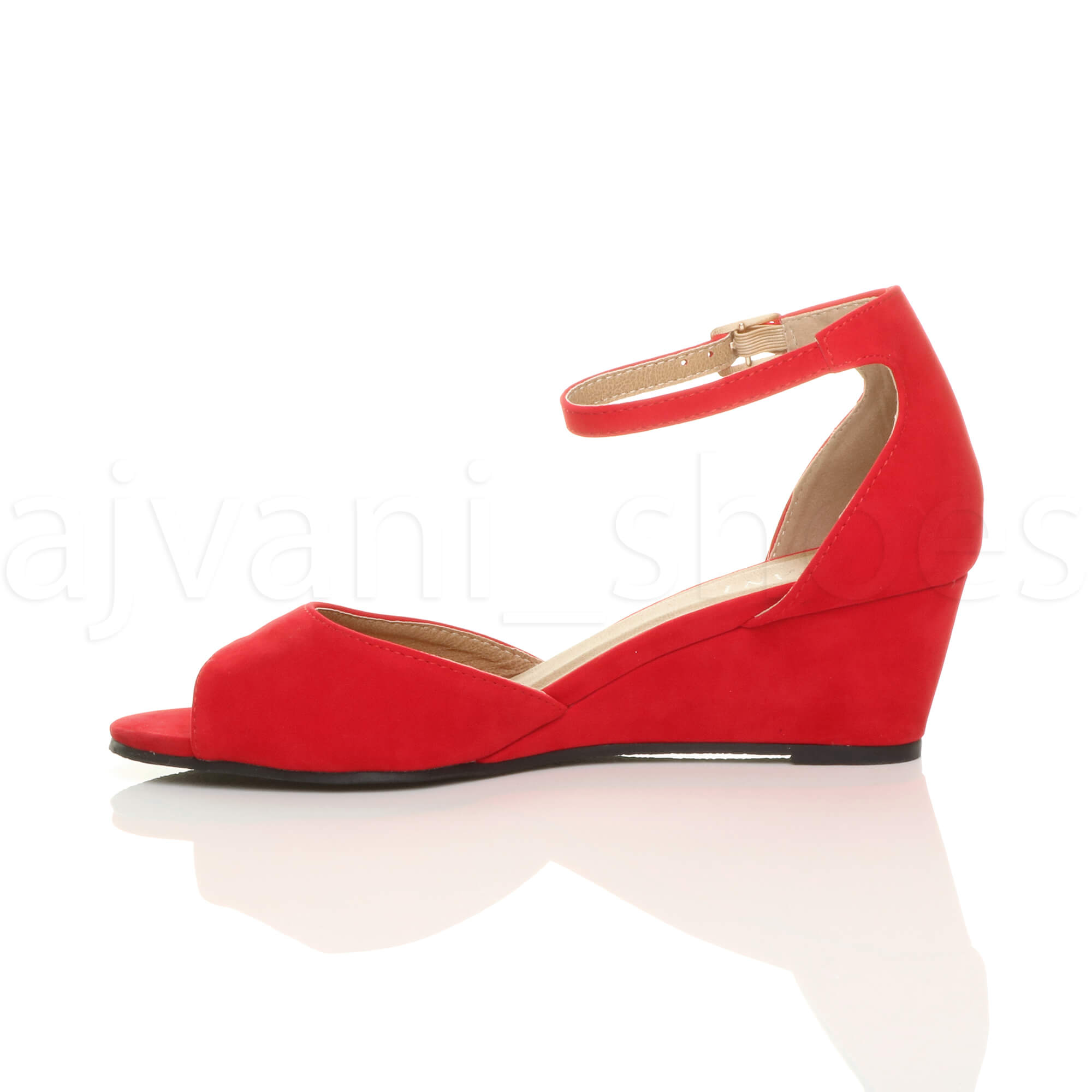 WOMENS-LADIES-LOW-MID-WEDGE-HEEL-ANKLE-STRAP-SMART-CASUAL-EVENING-SANDALS-SIZE thumbnail 124