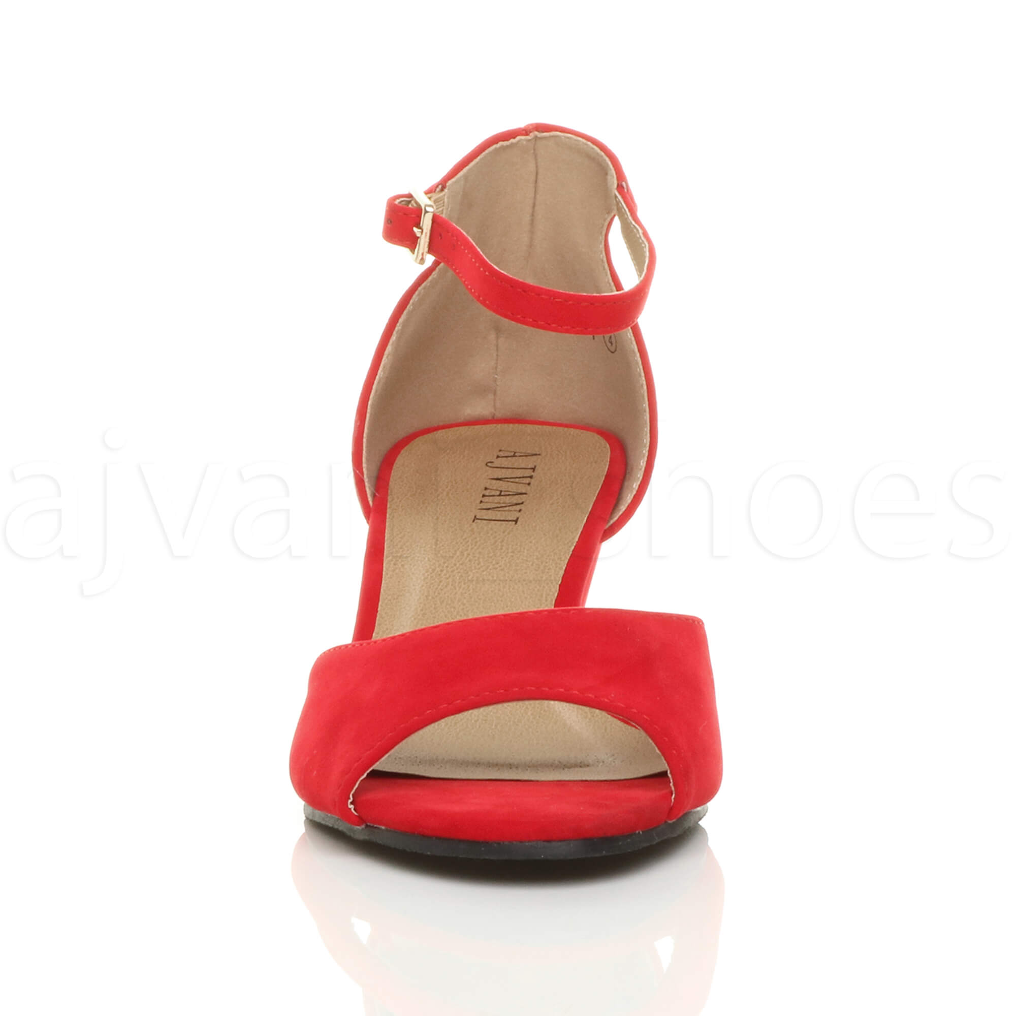 WOMENS-LADIES-LOW-MID-WEDGE-HEEL-ANKLE-STRAP-SMART-CASUAL-EVENING-SANDALS-SIZE thumbnail 127