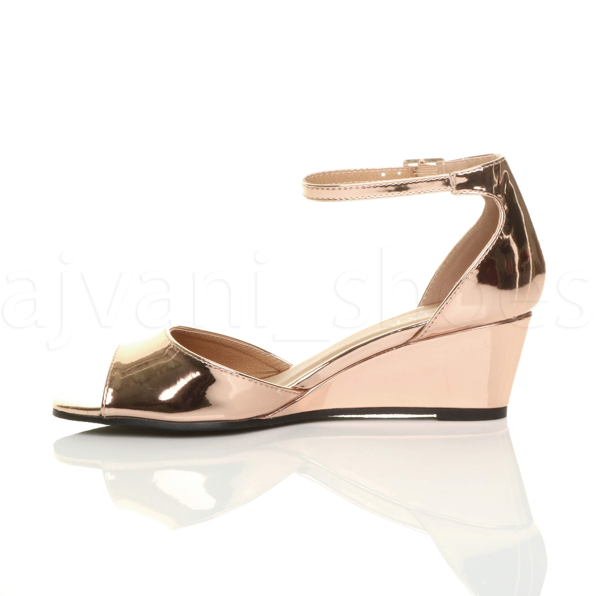 WOMENS-LADIES-LOW-MID-WEDGE-HEEL-ANKLE-STRAP-SMART-CASUAL-EVENING-SANDALS-SIZE thumbnail 132