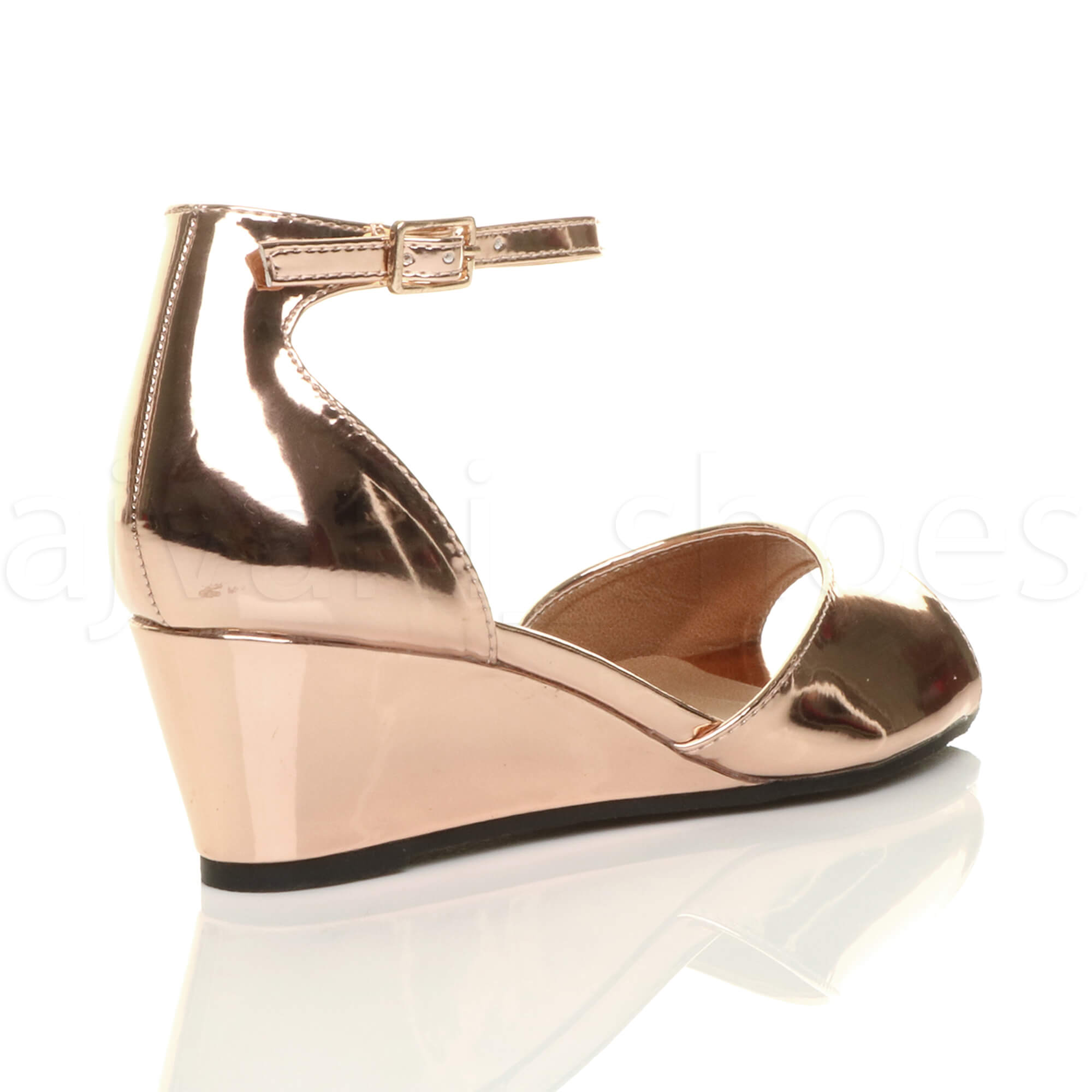 WOMENS-LADIES-LOW-MID-WEDGE-HEEL-ANKLE-STRAP-SMART-CASUAL-EVENING-SANDALS-SIZE thumbnail 133