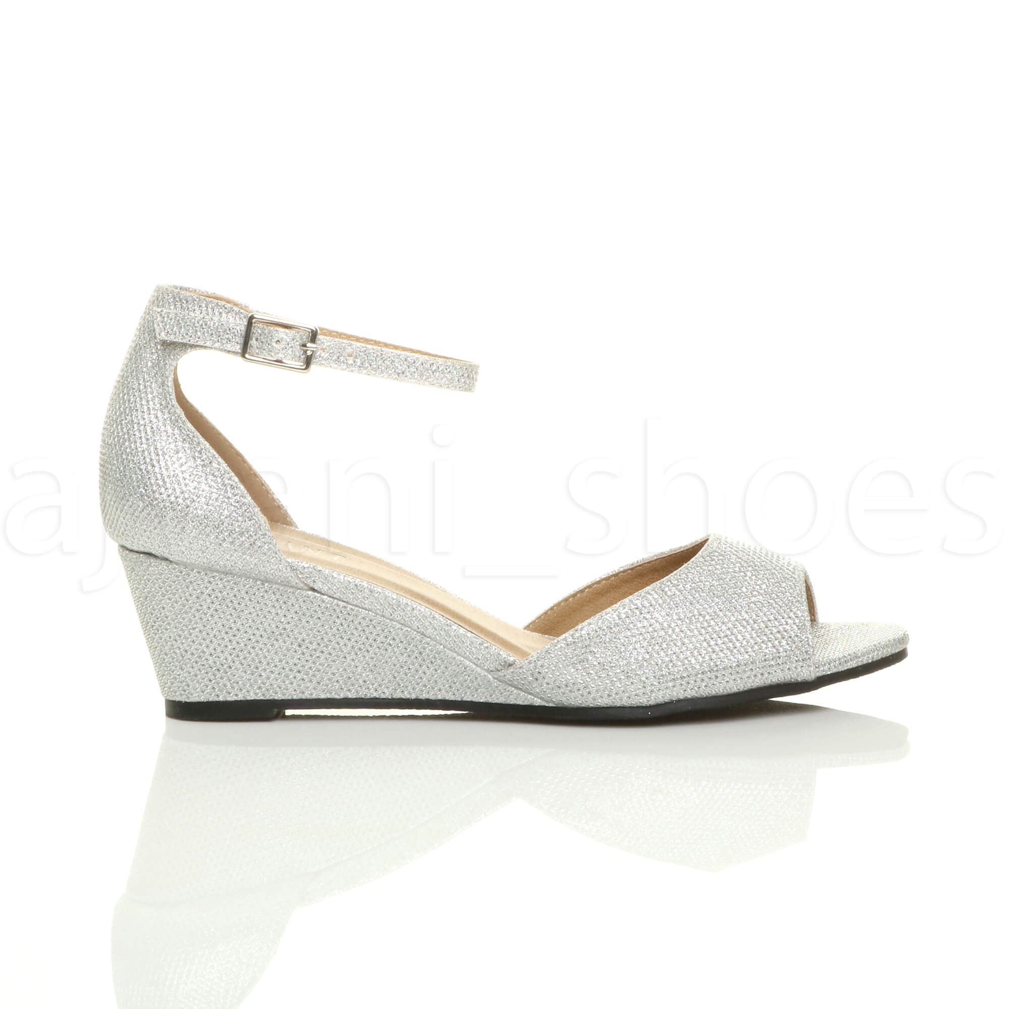 WOMENS-LADIES-LOW-MID-WEDGE-HEEL-ANKLE-STRAP-SMART-CASUAL-EVENING-SANDALS-SIZE thumbnail 139