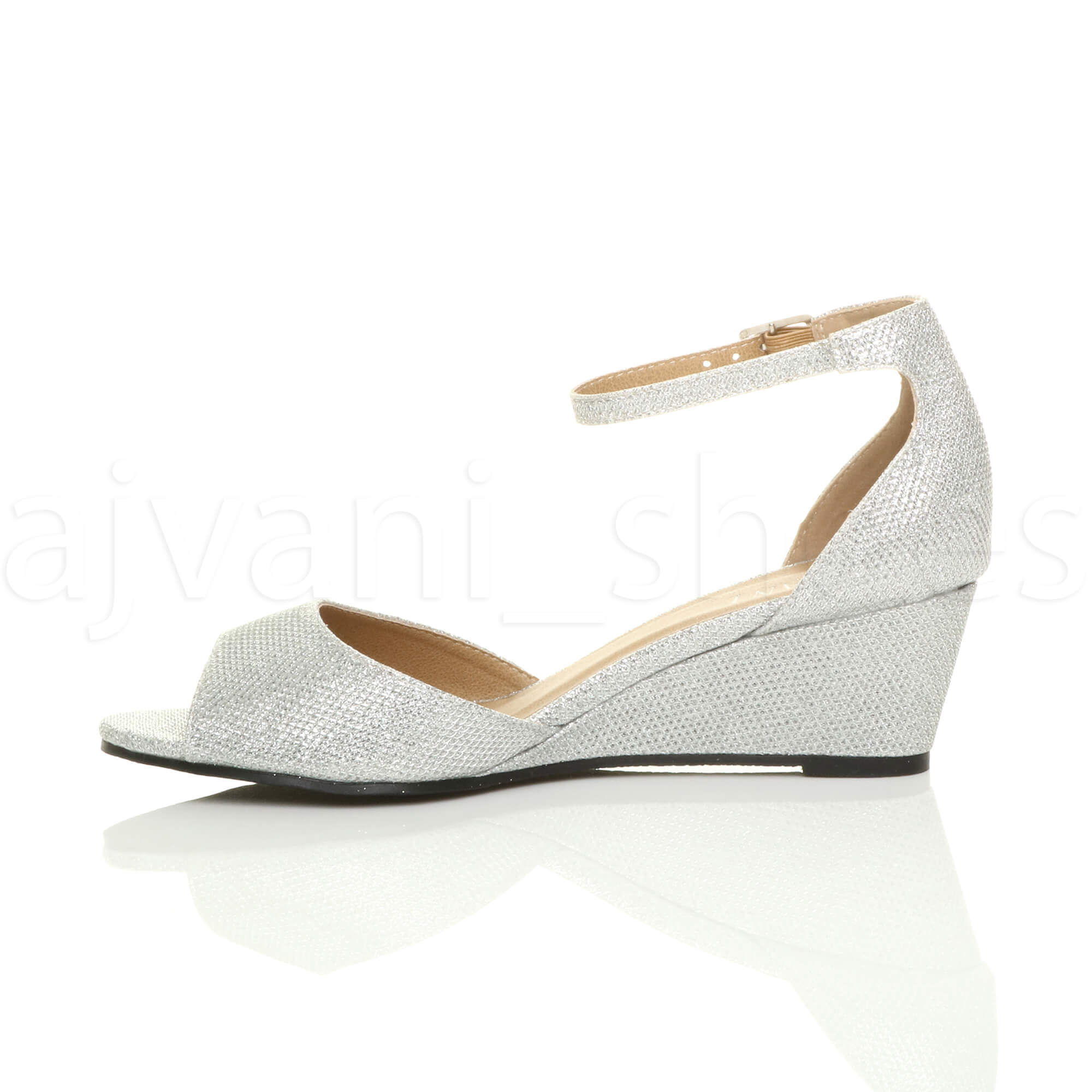WOMENS-LADIES-LOW-MID-WEDGE-HEEL-ANKLE-STRAP-SMART-CASUAL-EVENING-SANDALS-SIZE thumbnail 140