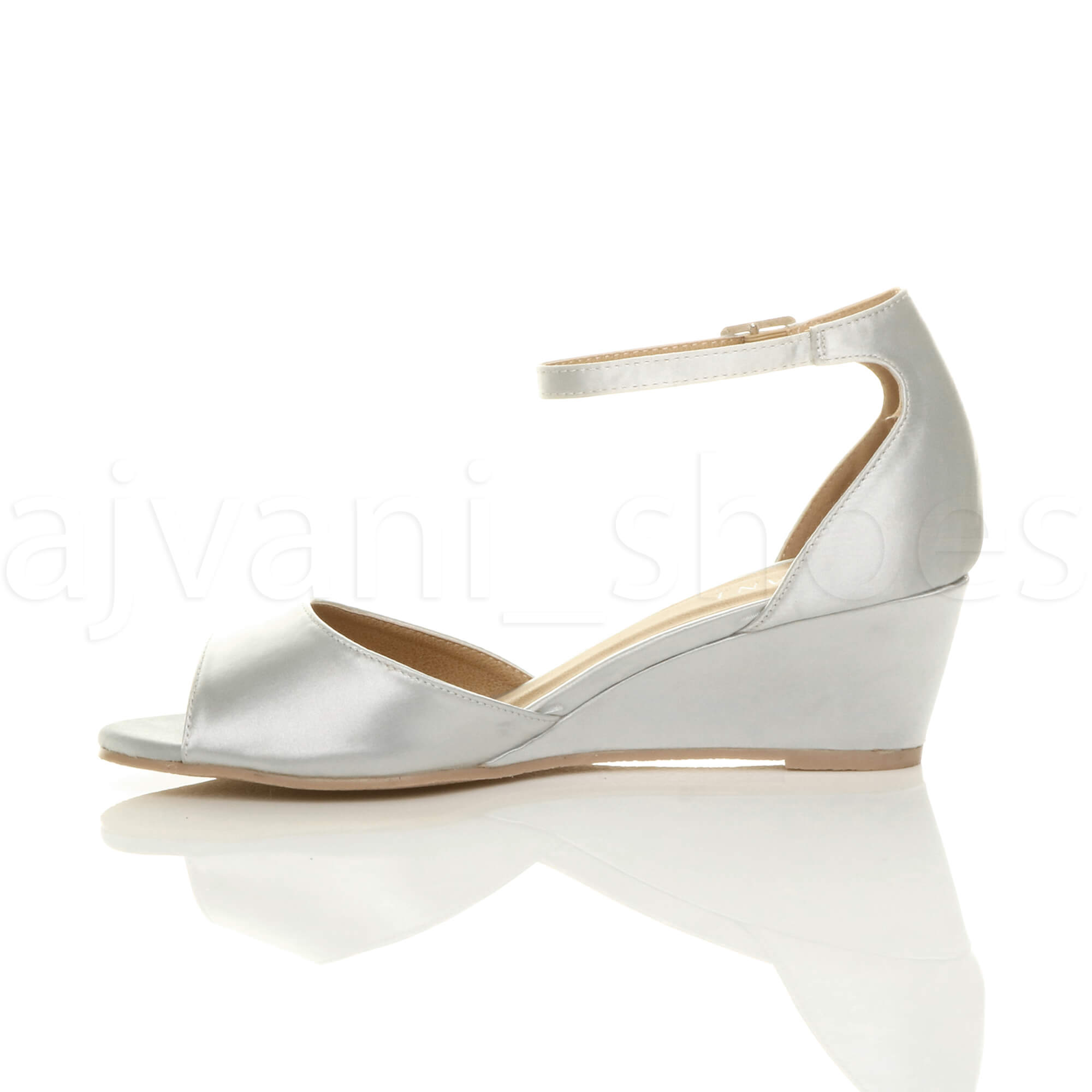 WOMENS-LADIES-LOW-MID-WEDGE-HEEL-ANKLE-STRAP-SMART-CASUAL-EVENING-SANDALS-SIZE thumbnail 156