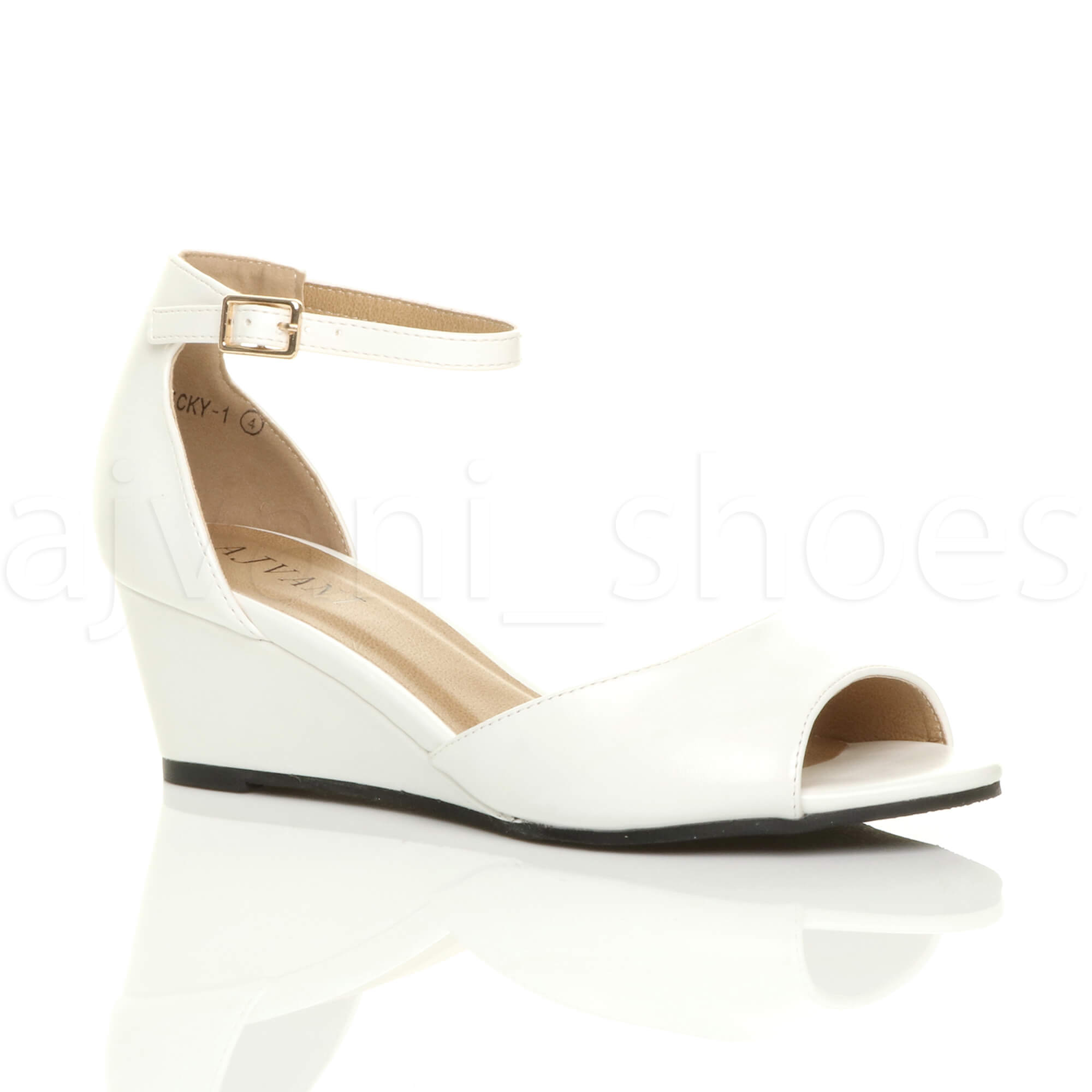 WOMENS-LADIES-LOW-MID-WEDGE-HEEL-ANKLE-STRAP-SMART-CASUAL-EVENING-SANDALS-SIZE thumbnail 162