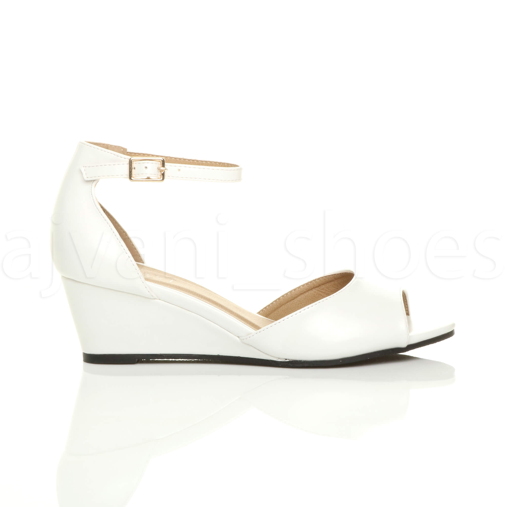 WOMENS-LADIES-LOW-MID-WEDGE-HEEL-ANKLE-STRAP-SMART-CASUAL-EVENING-SANDALS-SIZE thumbnail 163