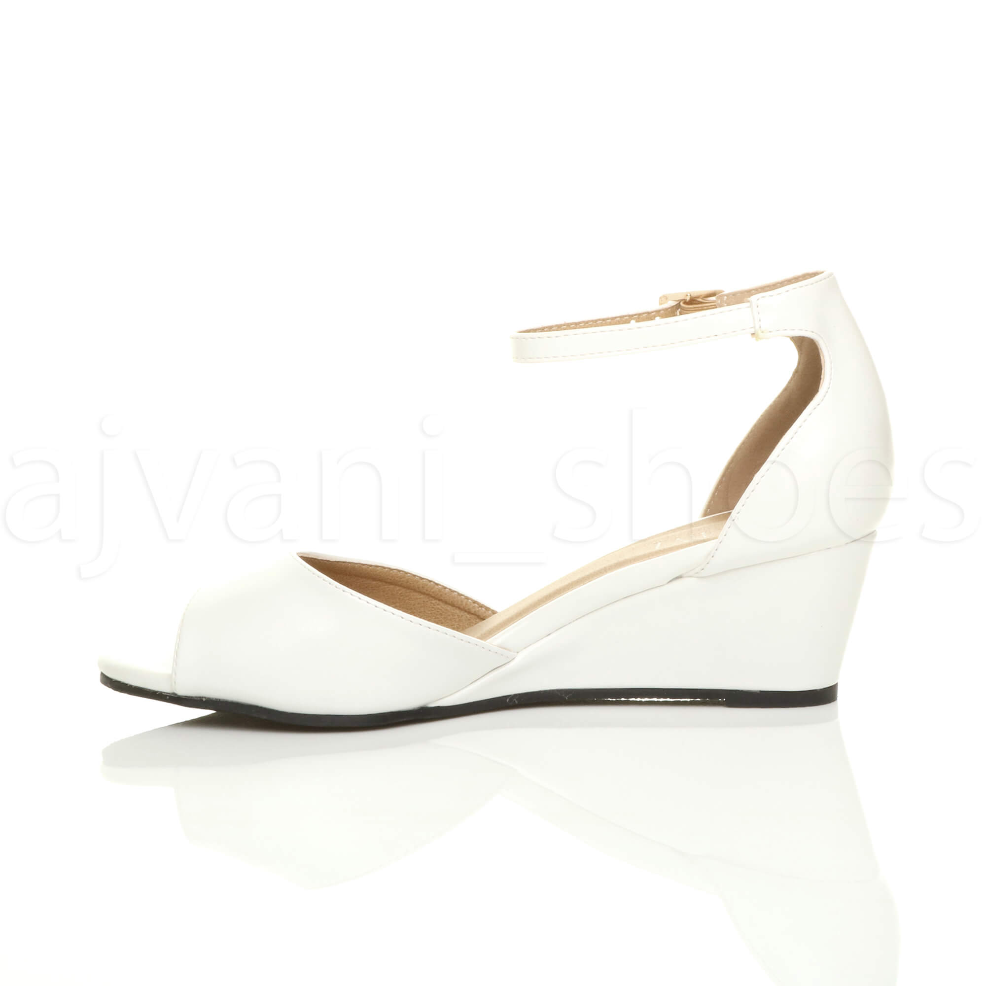 WOMENS-LADIES-LOW-MID-WEDGE-HEEL-ANKLE-STRAP-SMART-CASUAL-EVENING-SANDALS-SIZE thumbnail 164