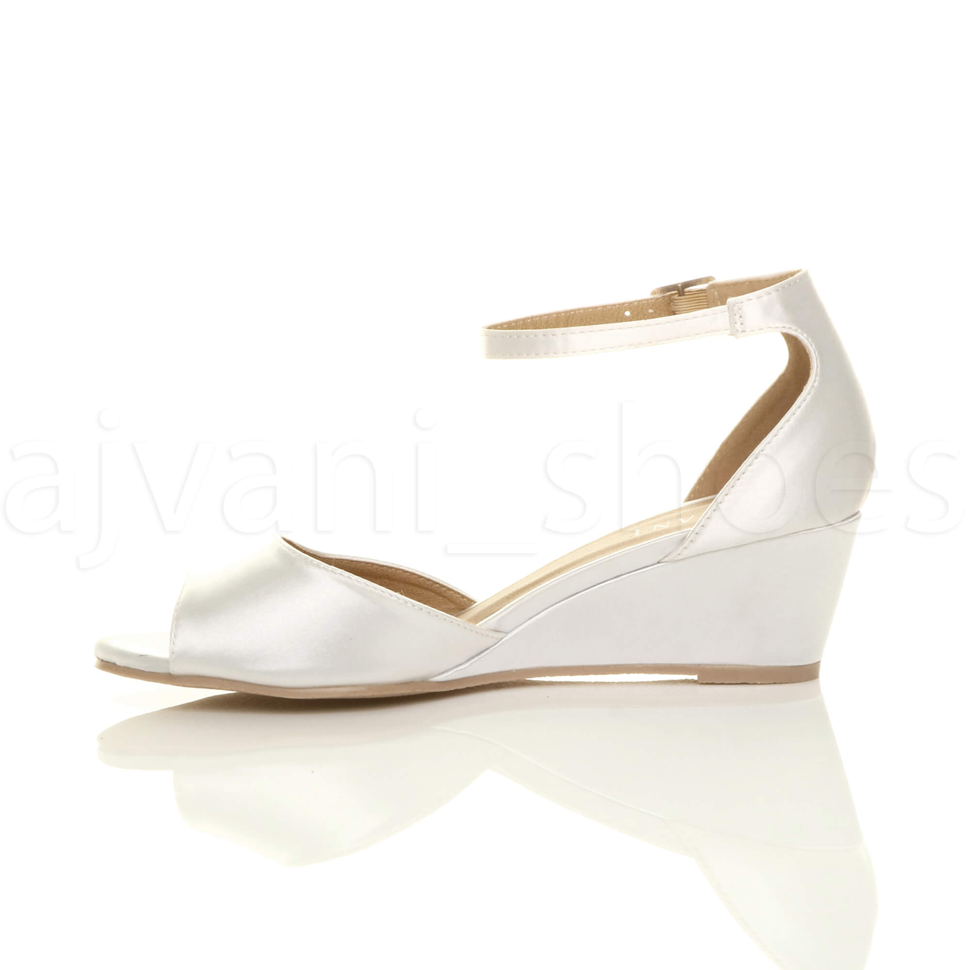 WOMENS-LADIES-LOW-MID-WEDGE-HEEL-ANKLE-STRAP-SMART-CASUAL-EVENING-SANDALS-SIZE thumbnail 172