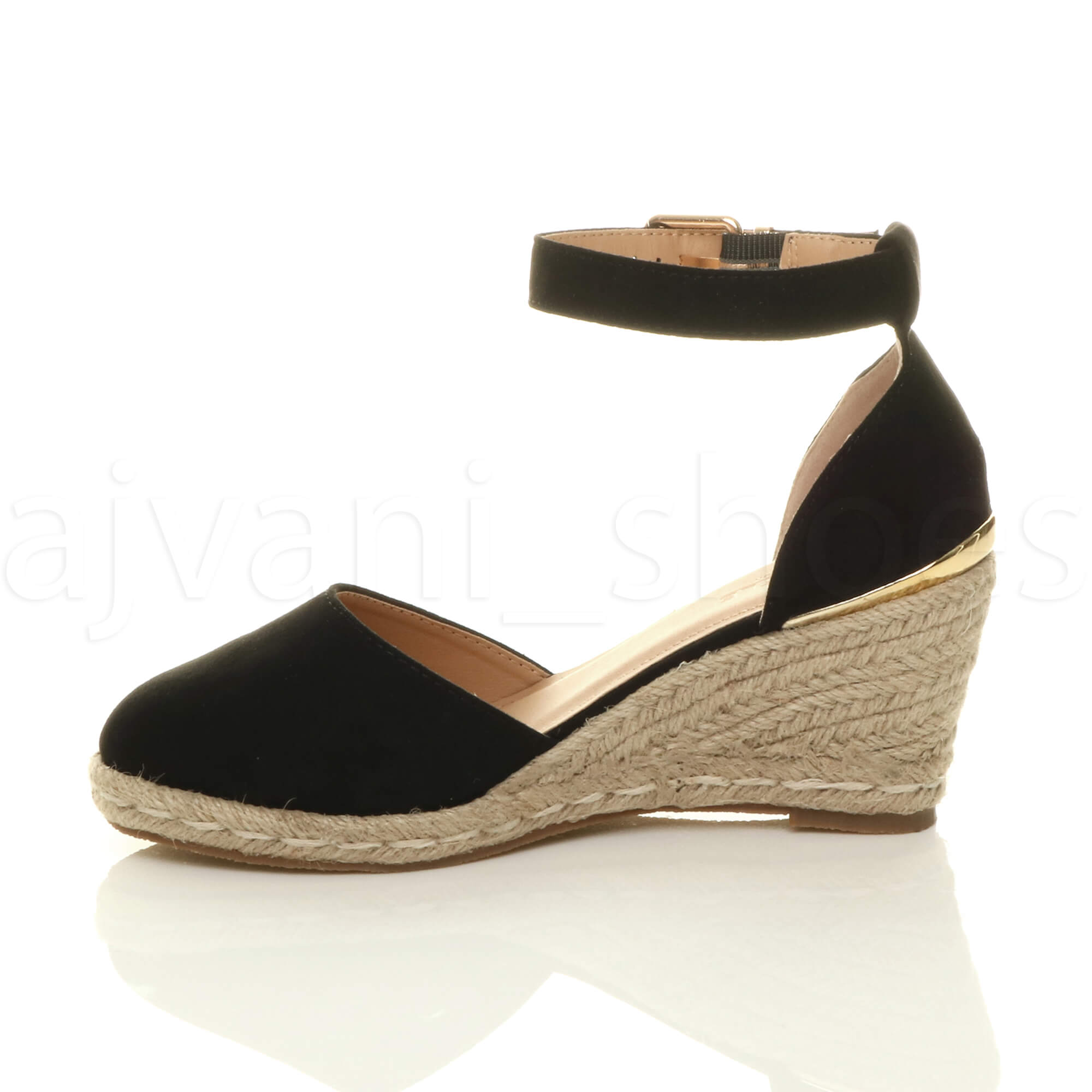 WOMENS-LADIES-MID-WEDGE-HEEL-BUCKLE-UP-ANKLE-STRAP-ESPADRILLE-SANDALS-SIZE