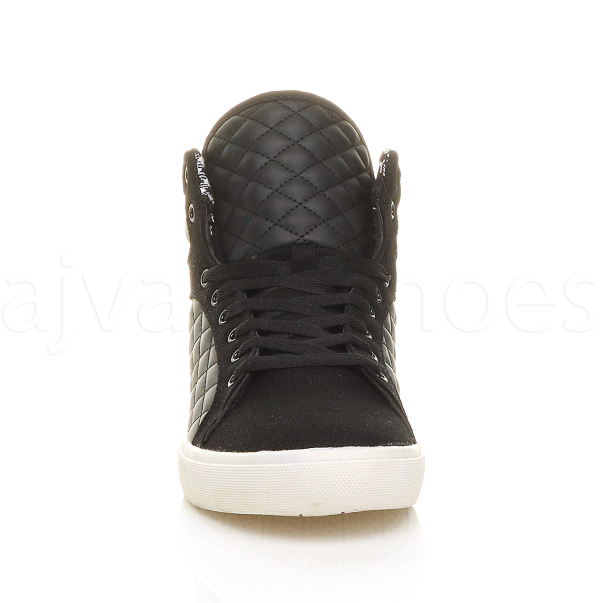 MENS-QUILTED-LACE-UP-FLAT-CASUAL-HI-HIGH-TOP-TRAINERS-SHOES-ANKLE-BOOTS-SIZE thumbnail 7