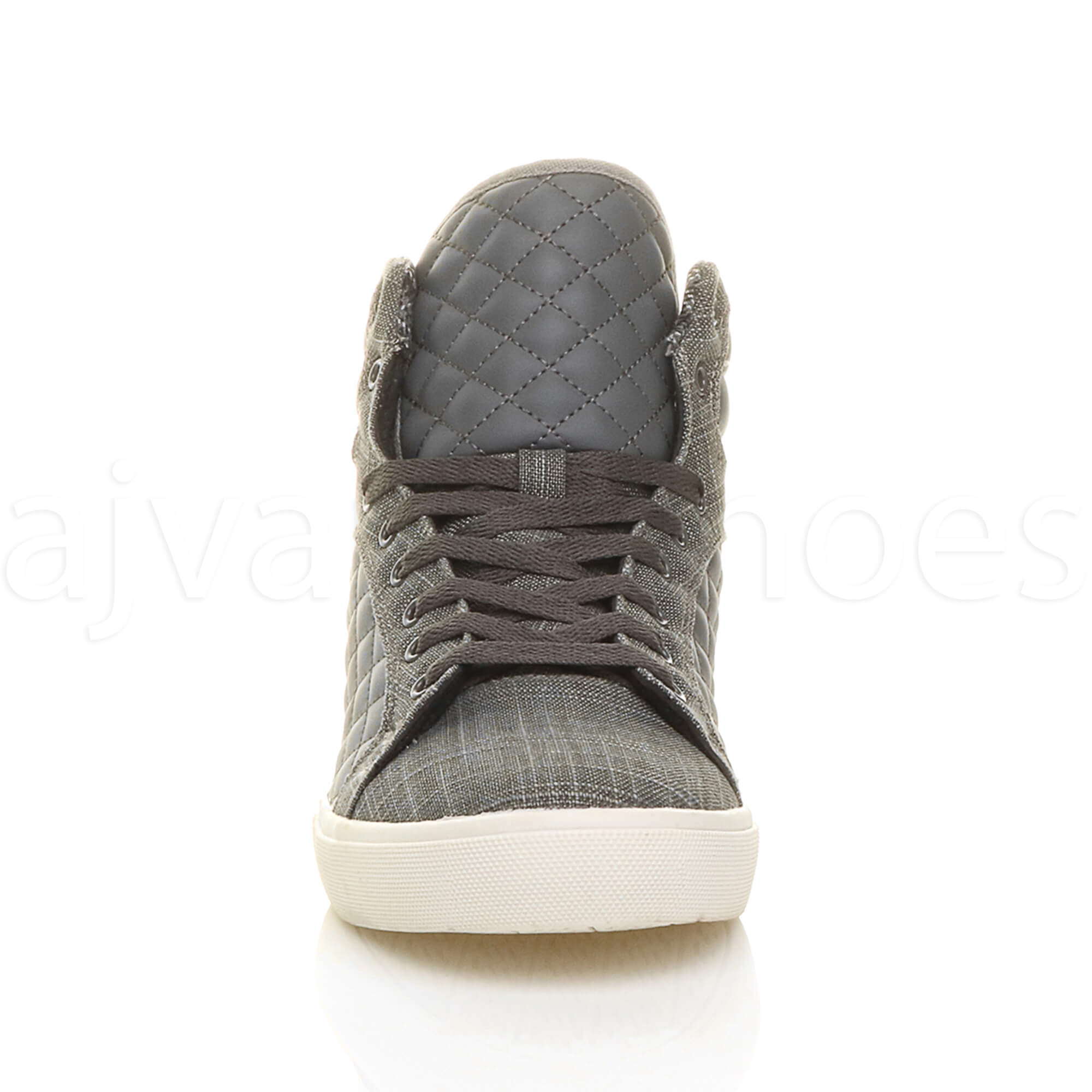 MENS-QUILTED-LACE-UP-FLAT-CASUAL-HI-HIGH-TOP-TRAINERS-SHOES-ANKLE-BOOTS-SIZE thumbnail 14
