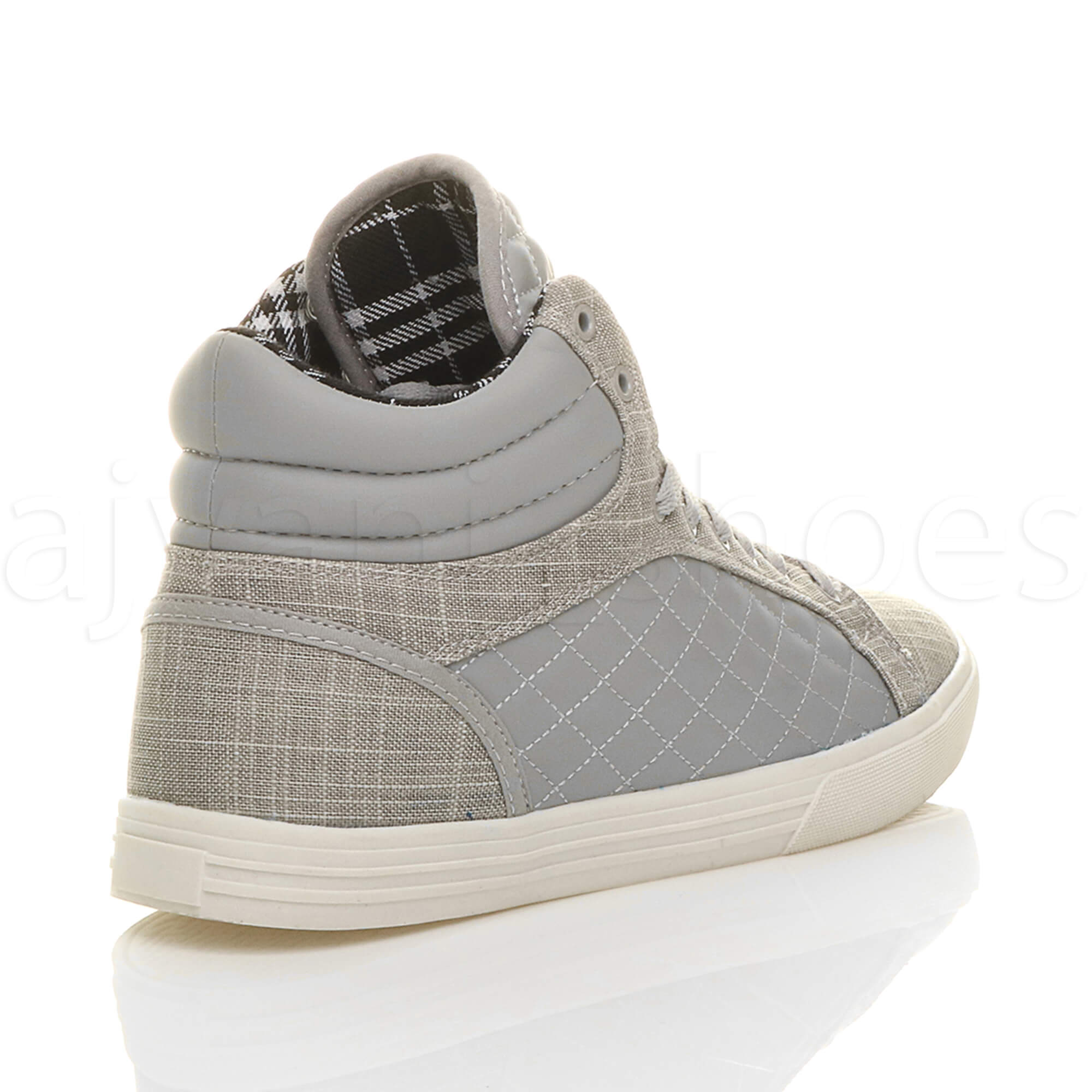 MENS-QUILTED-LACE-UP-FLAT-CASUAL-HI-HIGH-TOP-TRAINERS-SHOES-ANKLE-BOOTS-SIZE thumbnail 19