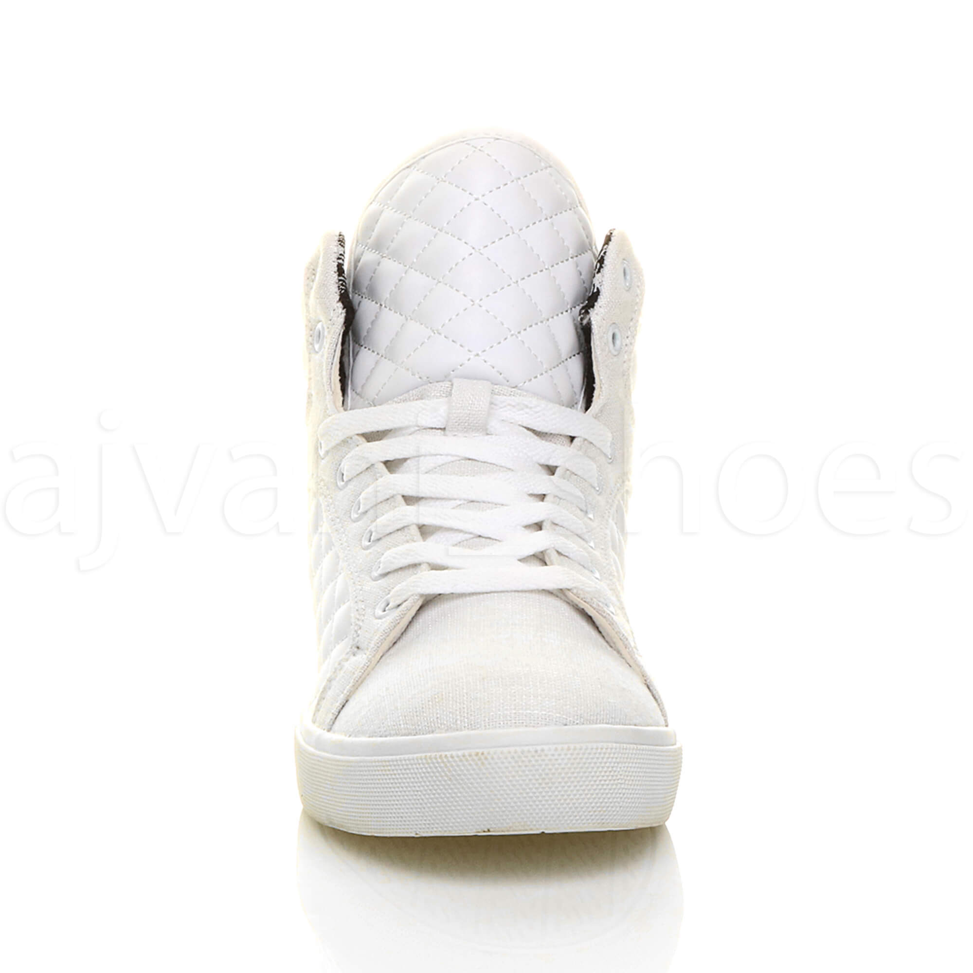 MENS-QUILTED-LACE-UP-FLAT-CASUAL-HI-HIGH-TOP-TRAINERS-SHOES-ANKLE-BOOTS-SIZE thumbnail 35