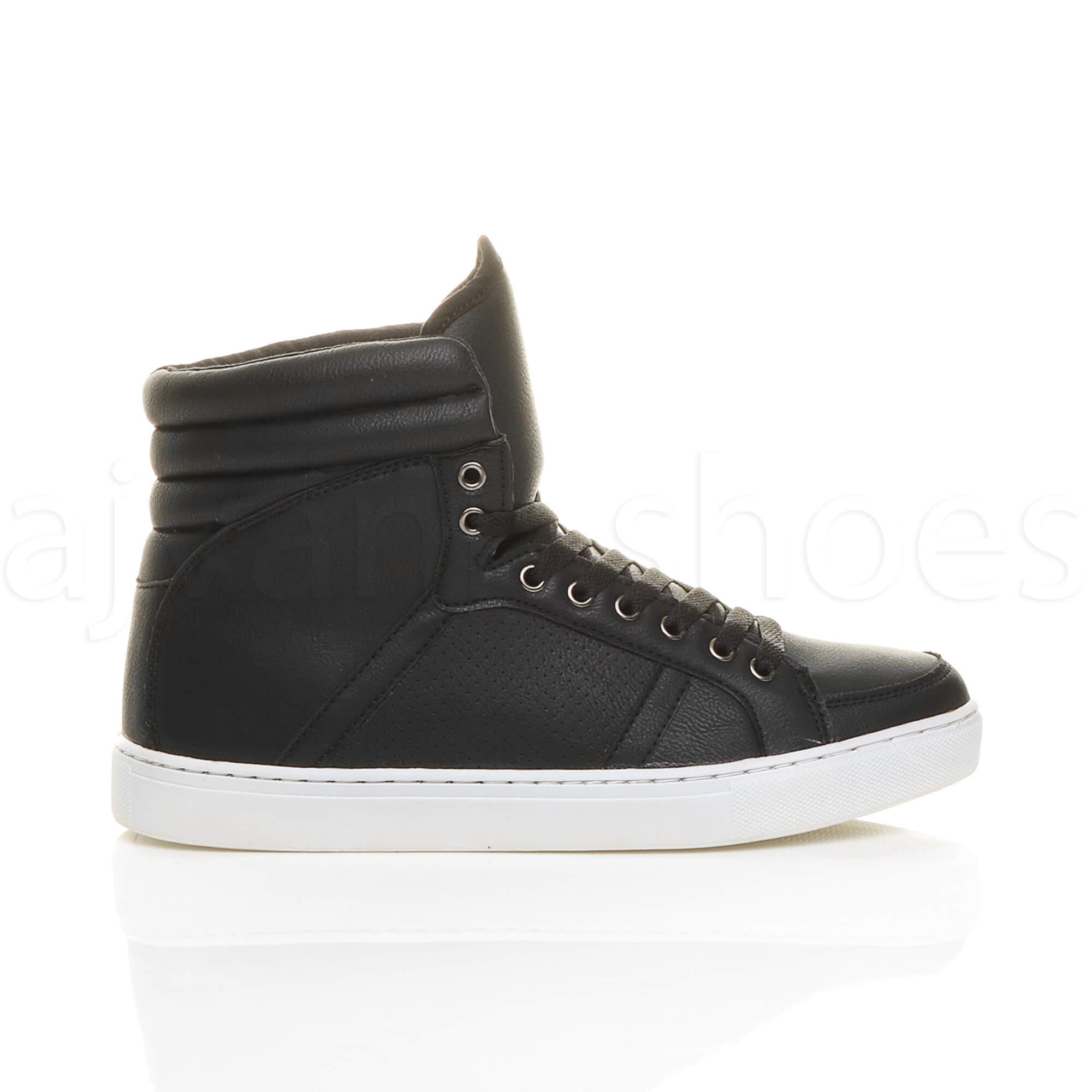 MENS-LACE-UP-CASUAL-FLAT-HI-HIGH-TOP-ANKLE-BOOTS-SHOES-TRAINERS-SNEAKERS-SIZE thumbnail 3