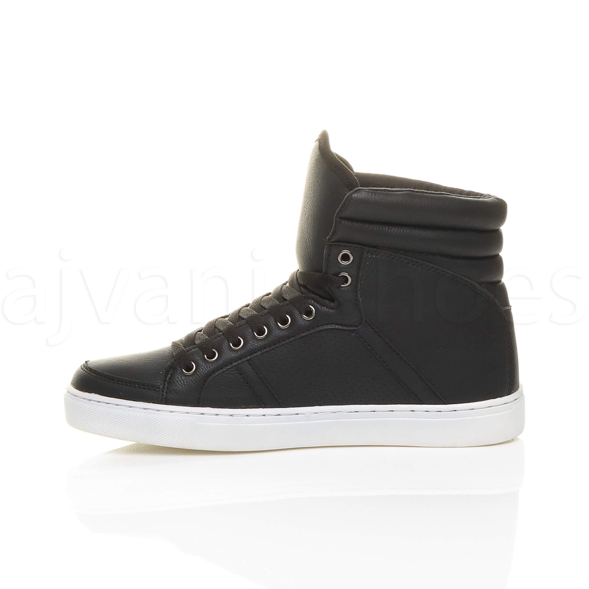 MENS-LACE-UP-CASUAL-FLAT-HI-HIGH-TOP-ANKLE-BOOTS-SHOES-TRAINERS-SNEAKERS-SIZE thumbnail 4