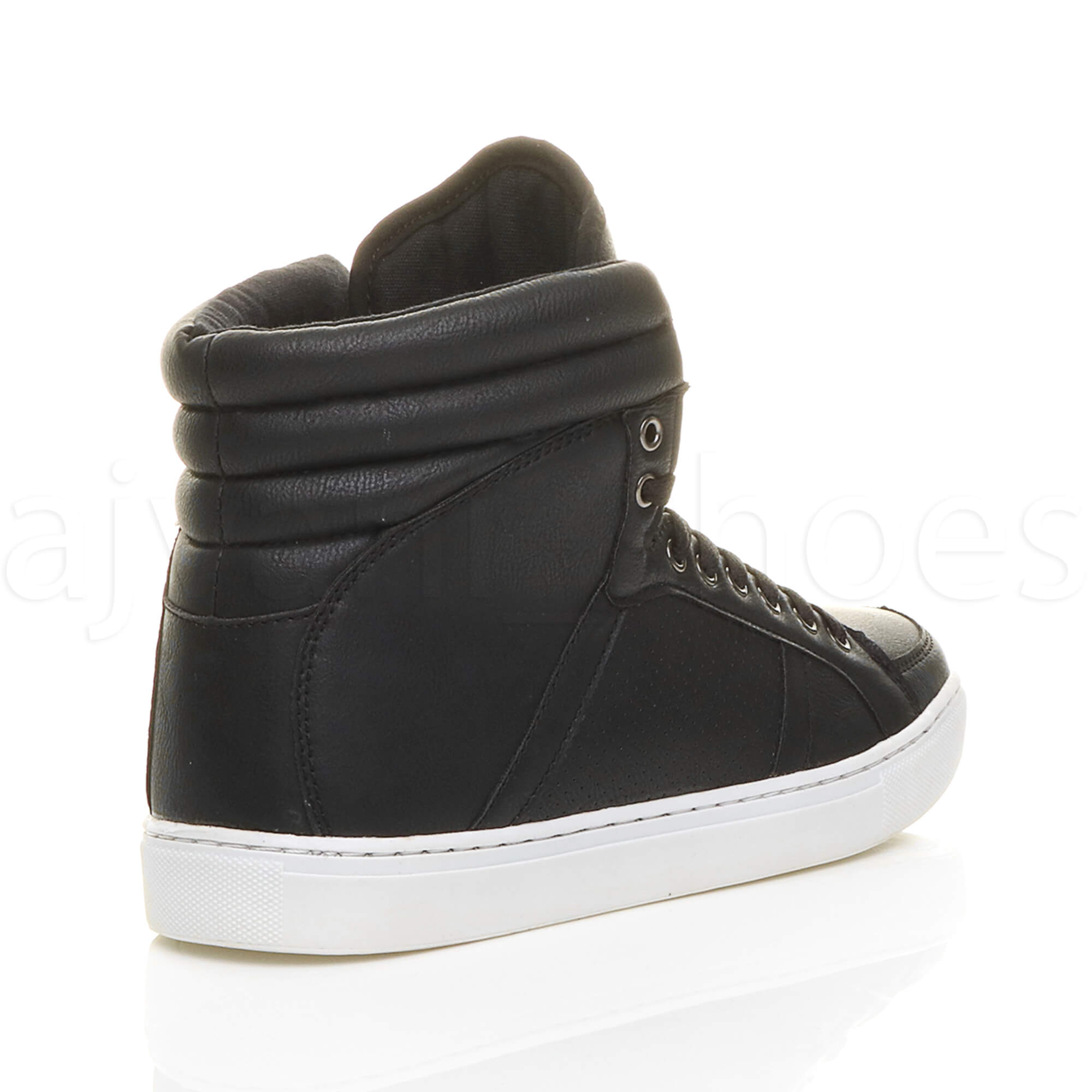 MENS-LACE-UP-CASUAL-FLAT-HI-HIGH-TOP-ANKLE-BOOTS-SHOES-TRAINERS-SNEAKERS-SIZE thumbnail 5
