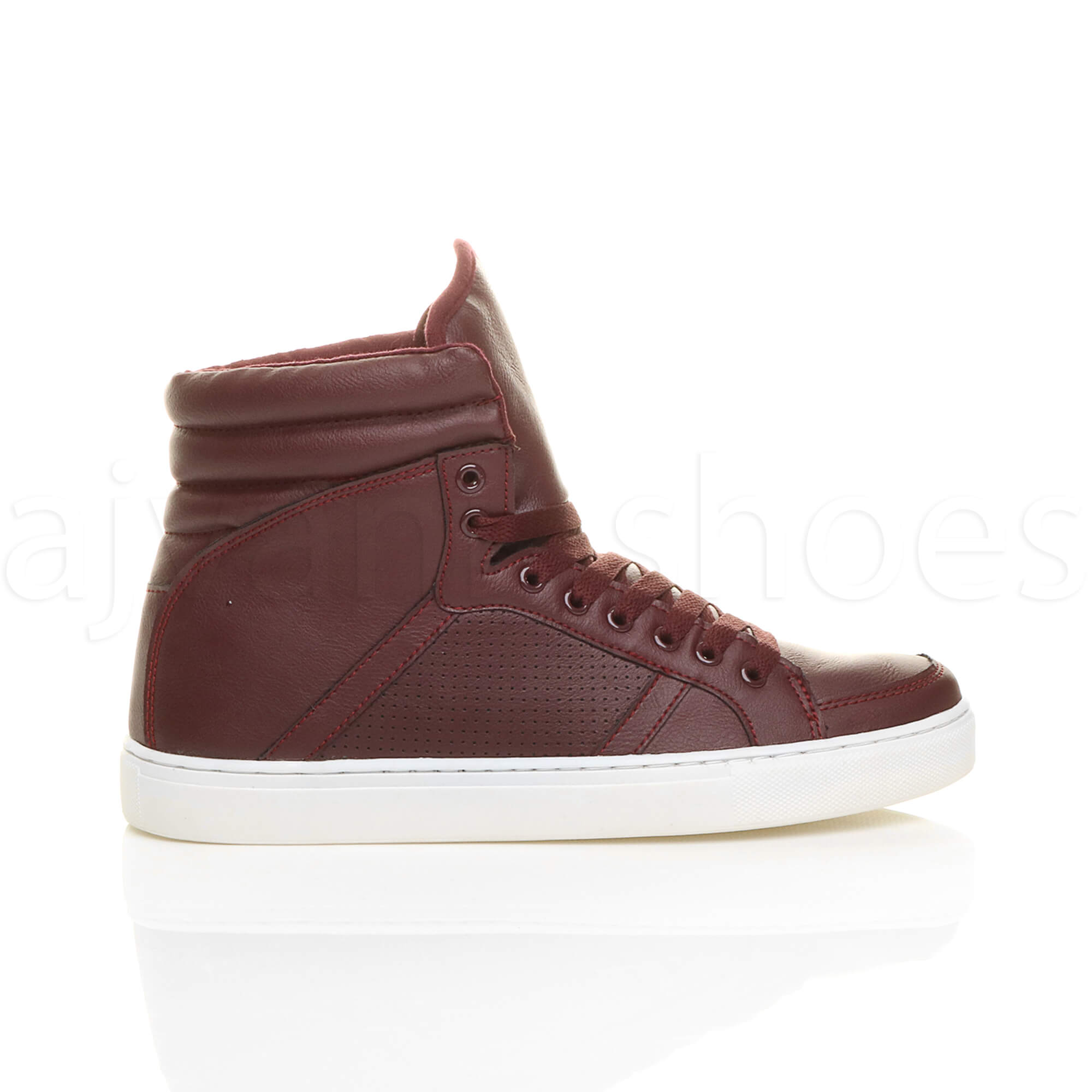 MENS-LACE-UP-CASUAL-FLAT-HI-HIGH-TOP-ANKLE-BOOTS-SHOES-TRAINERS-SNEAKERS-SIZE thumbnail 10