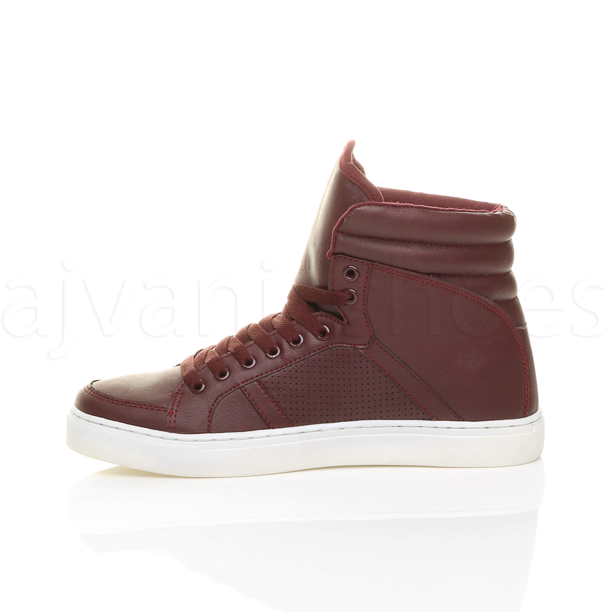 MENS-LACE-UP-CASUAL-FLAT-HI-HIGH-TOP-ANKLE-BOOTS-SHOES-TRAINERS-SNEAKERS-SIZE thumbnail 11