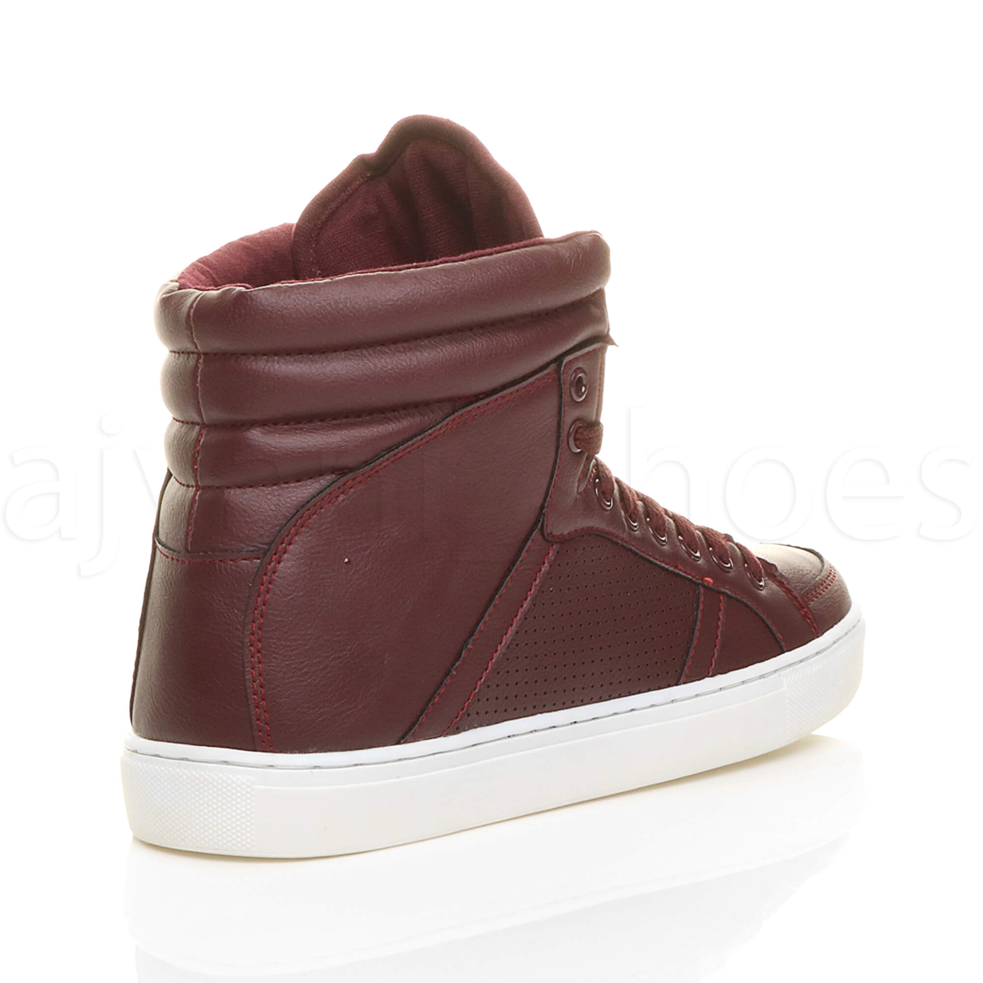 MENS-LACE-UP-CASUAL-FLAT-HI-HIGH-TOP-ANKLE-BOOTS-SHOES-TRAINERS-SNEAKERS-SIZE thumbnail 12