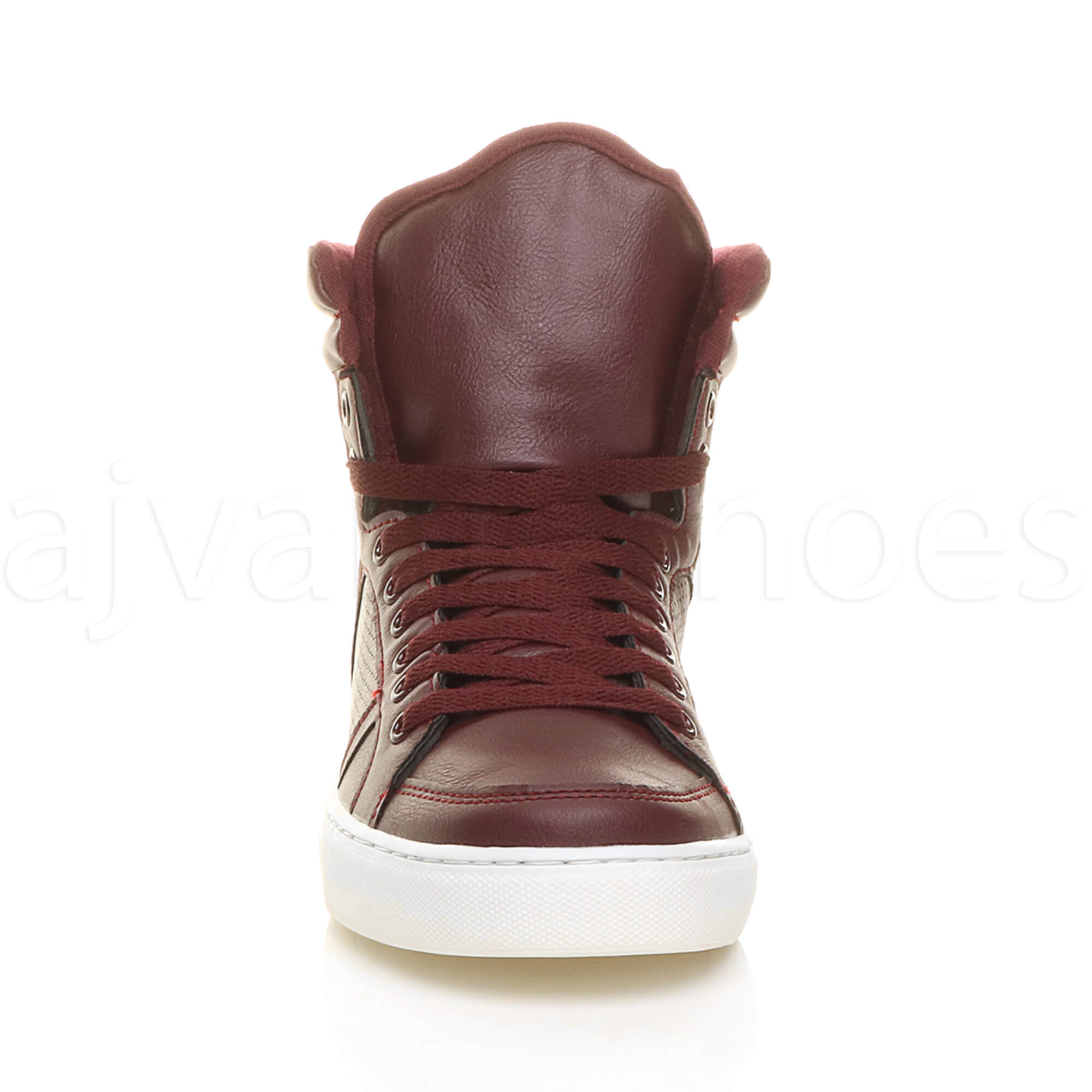 MENS-LACE-UP-CASUAL-FLAT-HI-HIGH-TOP-ANKLE-BOOTS-SHOES-TRAINERS-SNEAKERS-SIZE thumbnail 14