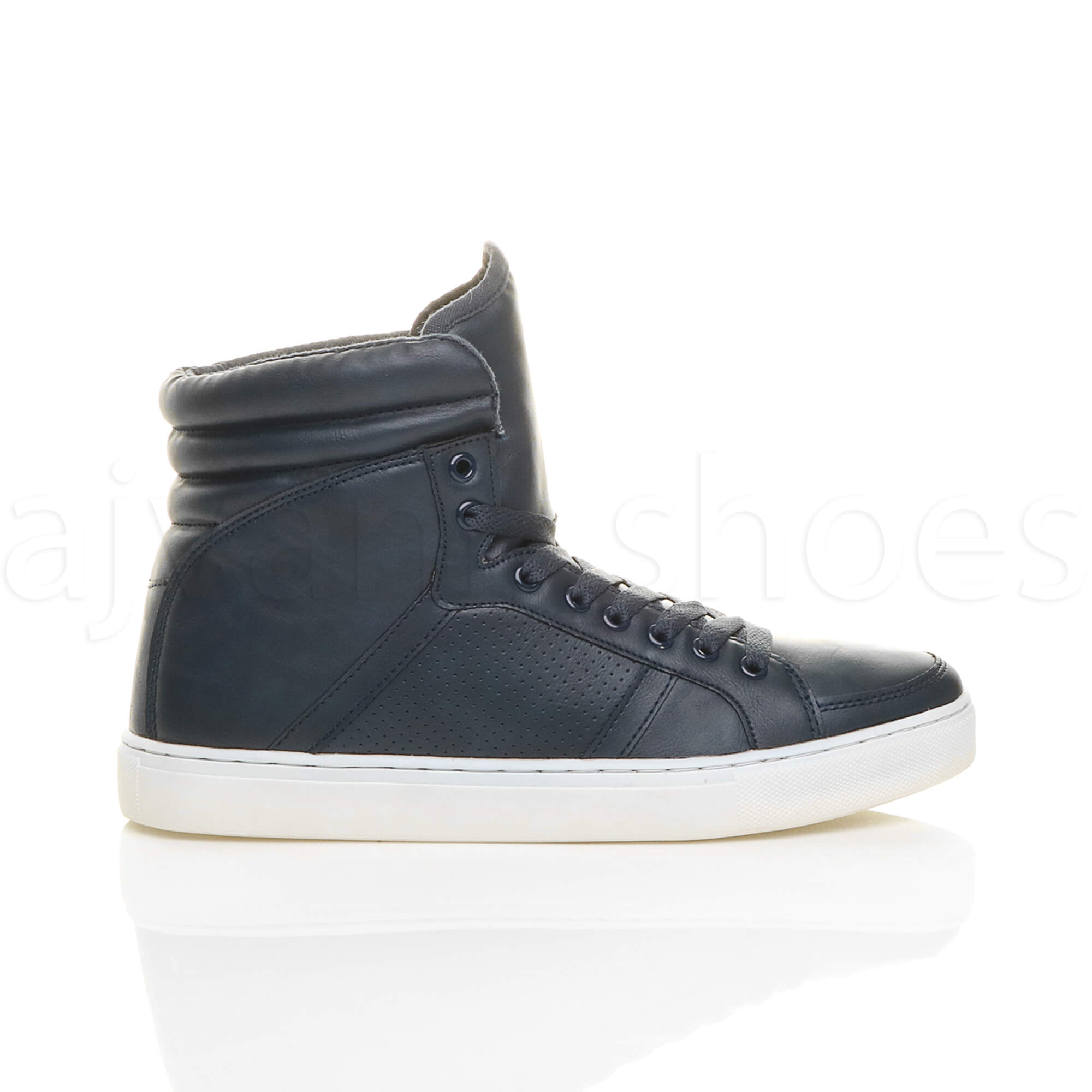 MENS-LACE-UP-CASUAL-FLAT-HI-HIGH-TOP-ANKLE-BOOTS-SHOES-TRAINERS-SNEAKERS-SIZE thumbnail 17