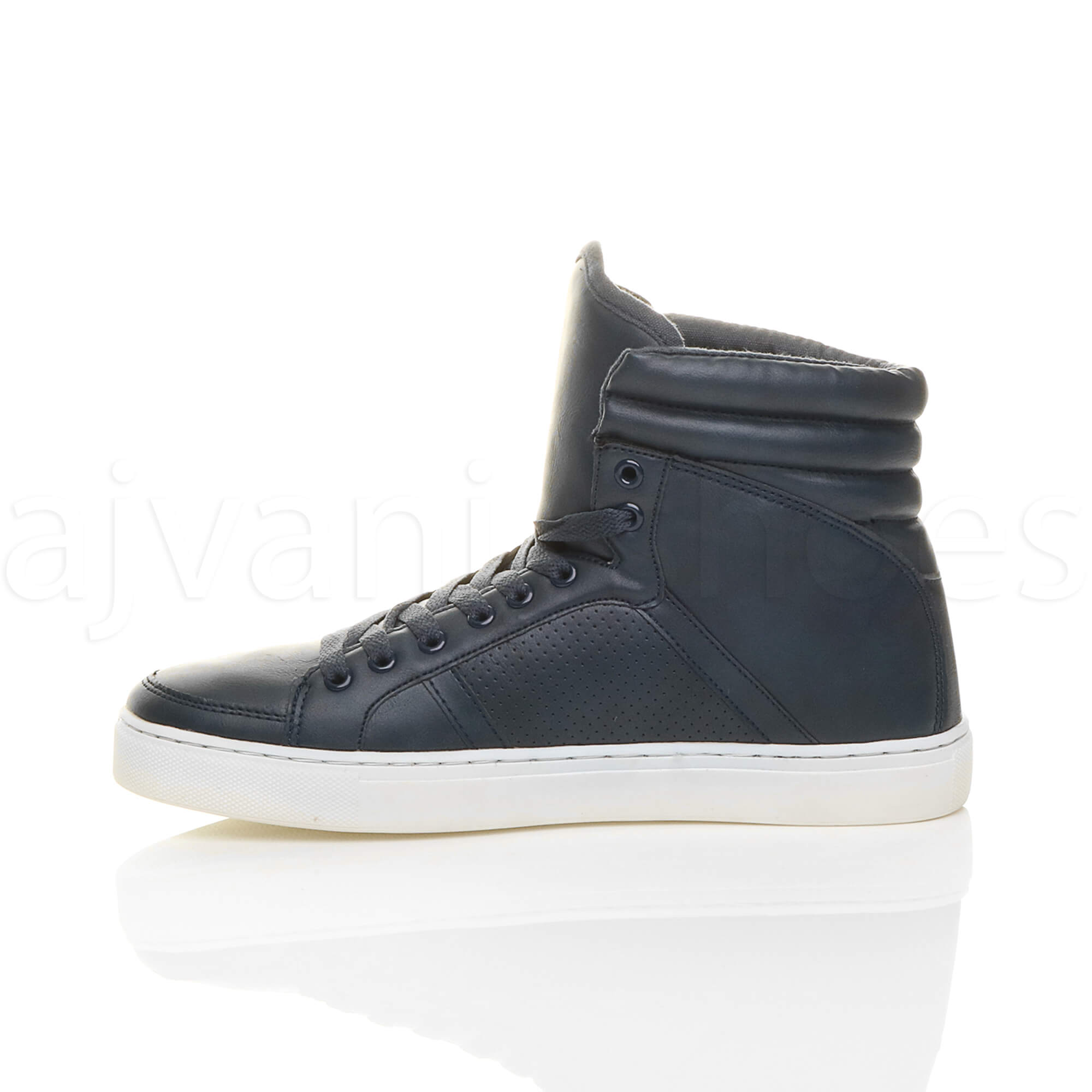 MENS-LACE-UP-CASUAL-FLAT-HI-HIGH-TOP-ANKLE-BOOTS-SHOES-TRAINERS-SNEAKERS-SIZE thumbnail 18
