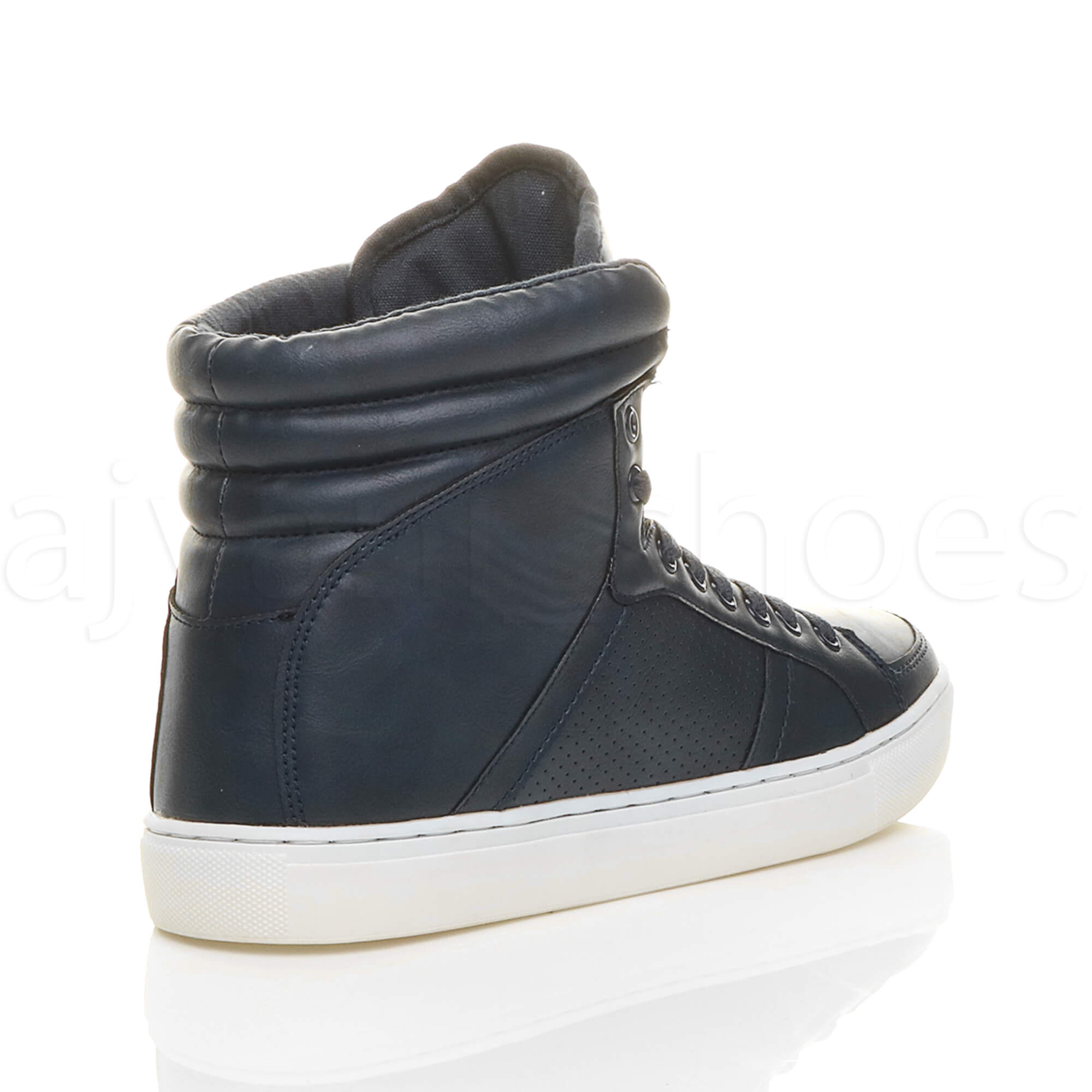MENS-LACE-UP-CASUAL-FLAT-HI-HIGH-TOP-ANKLE-BOOTS-SHOES-TRAINERS-SNEAKERS-SIZE thumbnail 19