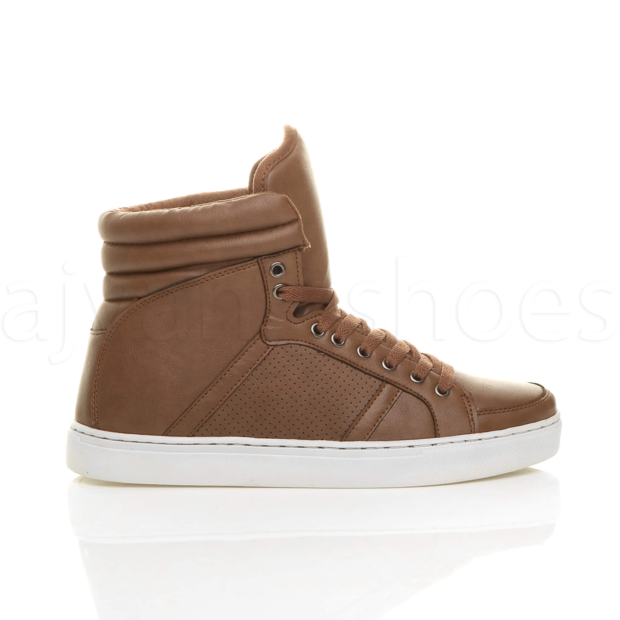 MENS-LACE-UP-CASUAL-FLAT-HI-HIGH-TOP-ANKLE-BOOTS-SHOES-TRAINERS-SNEAKERS-SIZE thumbnail 24