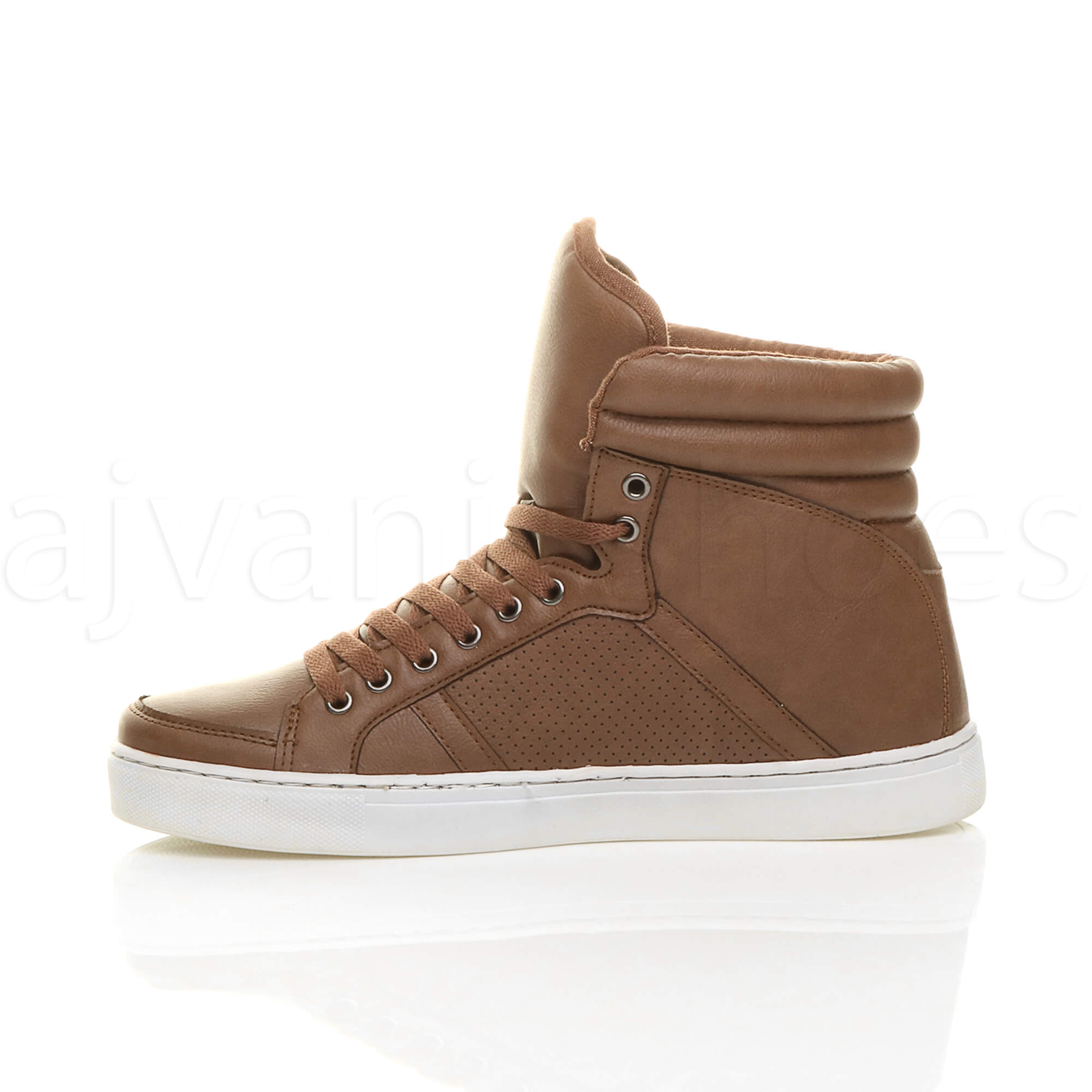 MENS-LACE-UP-CASUAL-FLAT-HI-HIGH-TOP-ANKLE-BOOTS-SHOES-TRAINERS-SNEAKERS-SIZE thumbnail 25