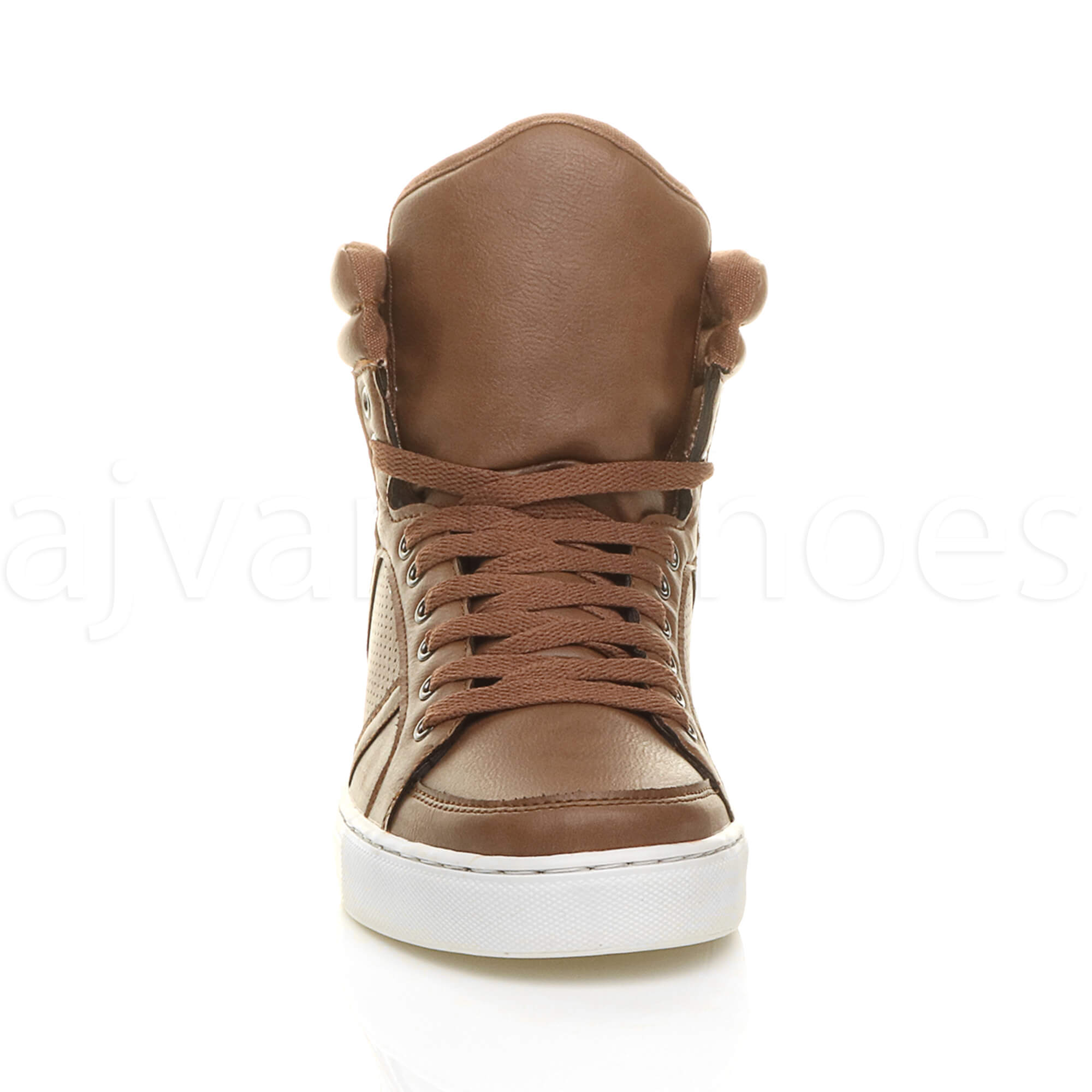 MENS-LACE-UP-CASUAL-FLAT-HI-HIGH-TOP-ANKLE-BOOTS-SHOES-TRAINERS-SNEAKERS-SIZE thumbnail 28