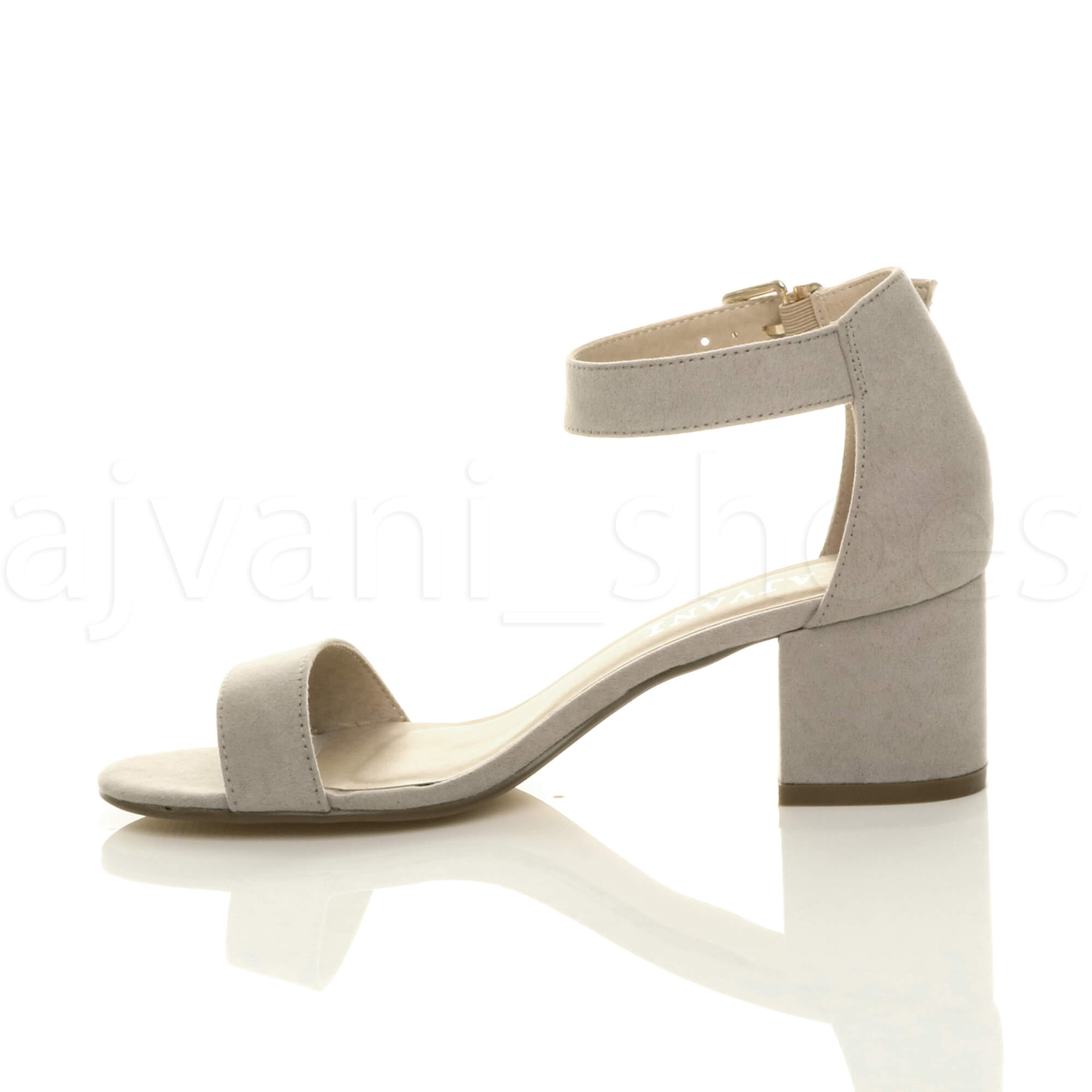 WOMENS-LADIES-LOW-MID-BLOCK-HEEL-ANKLE-STRAP-BUCKLE-PARTY-STRAPPY-SANDALS-SIZE thumbnail 86