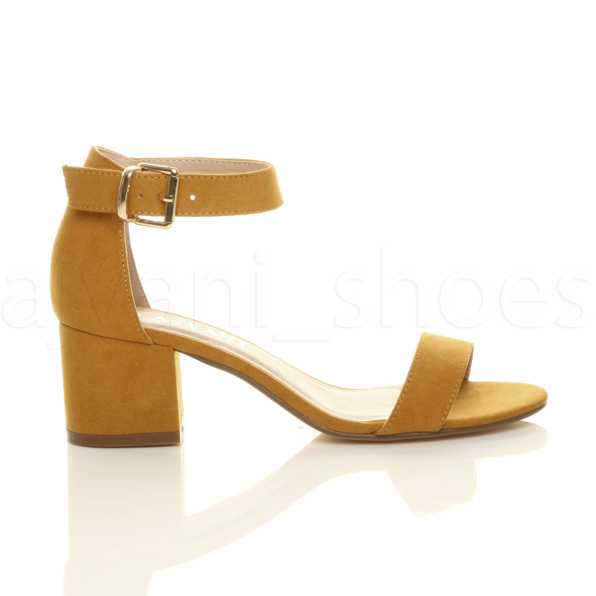 WOMENS-LADIES-LOW-MID-BLOCK-HEEL-ANKLE-STRAP-BUCKLE-PARTY-STRAPPY-SANDALS-SIZE thumbnail 106