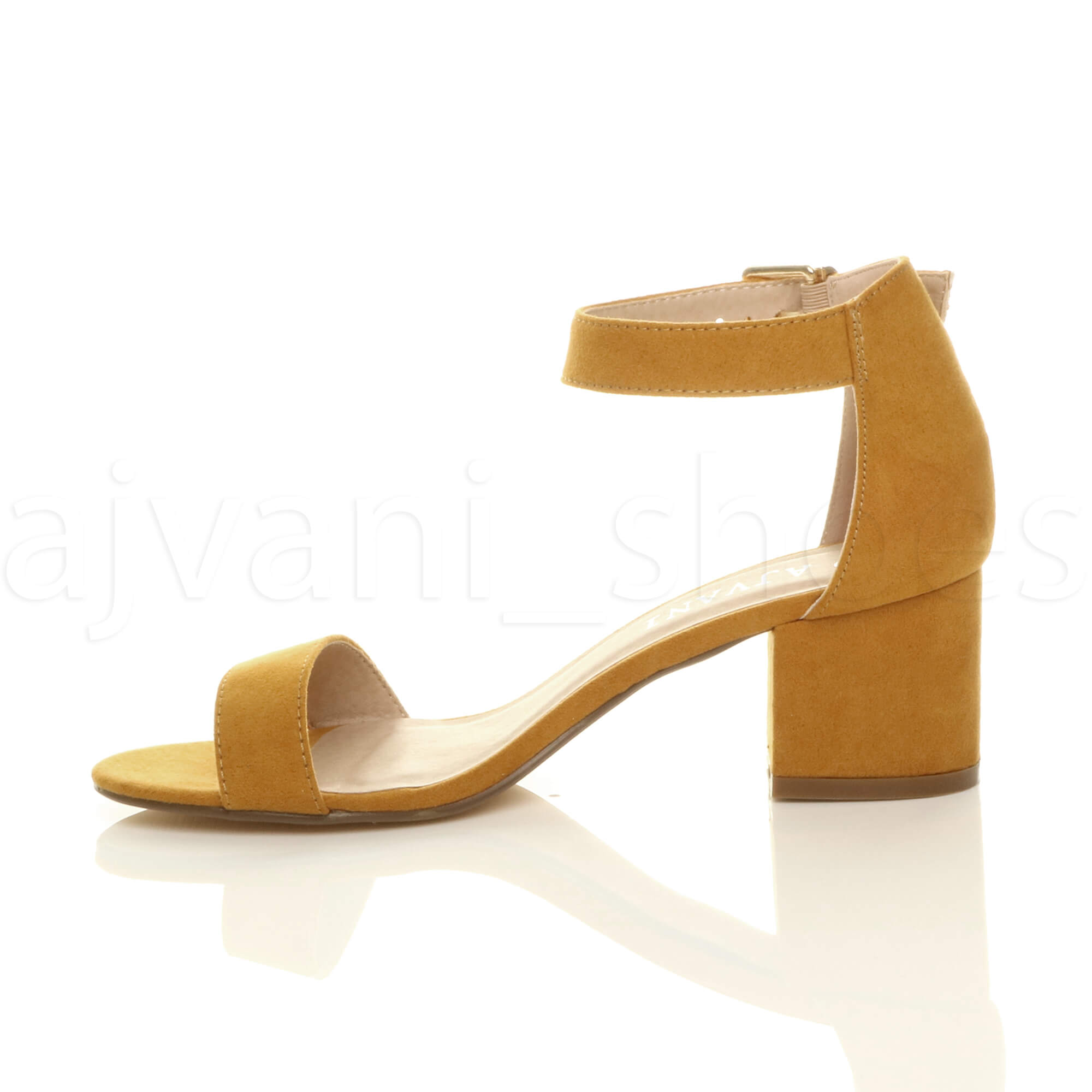 WOMENS-LADIES-LOW-MID-BLOCK-HEEL-ANKLE-STRAP-BUCKLE-PARTY-STRAPPY-SANDALS-SIZE thumbnail 107