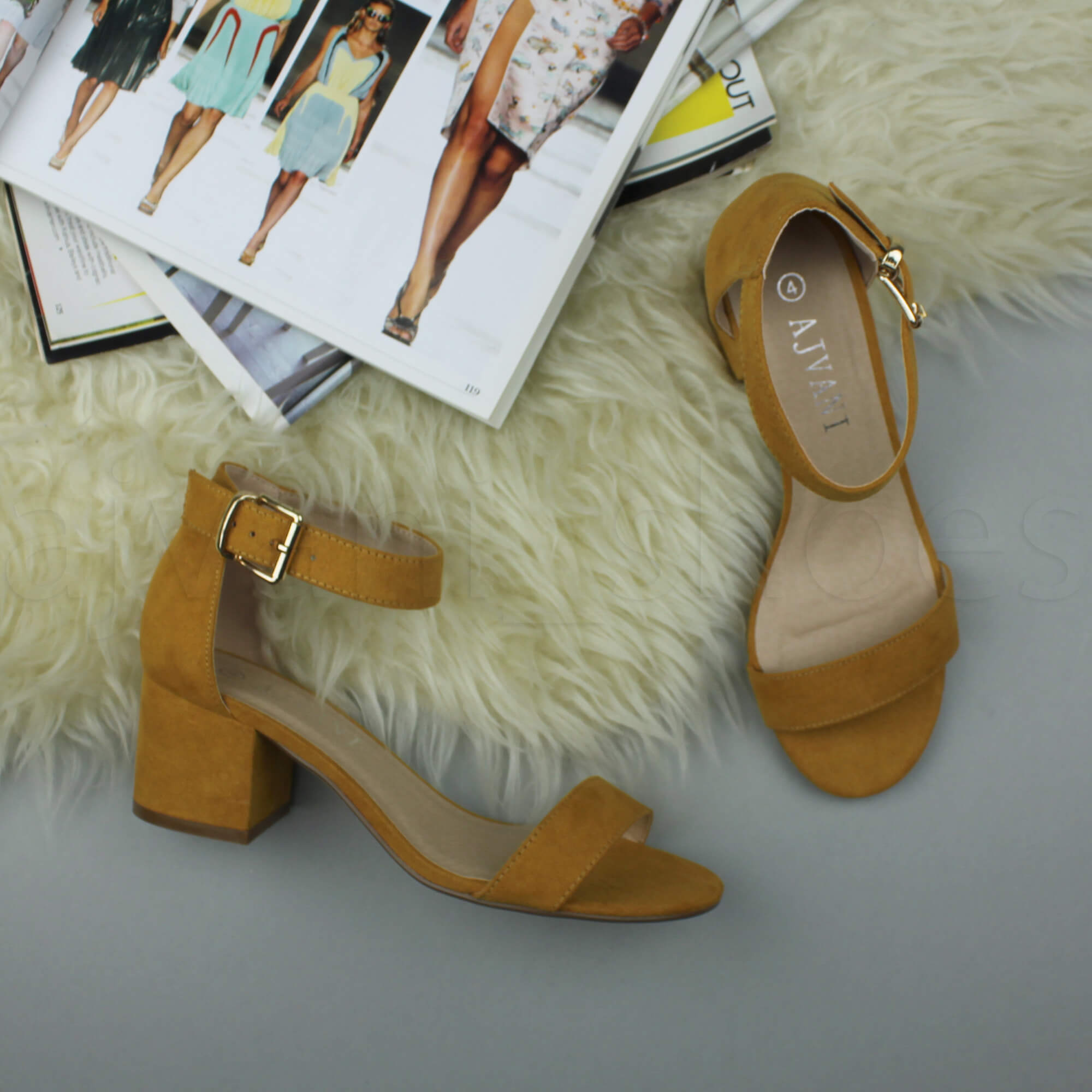 WOMENS-LADIES-LOW-MID-BLOCK-HEEL-ANKLE-STRAP-BUCKLE-PARTY-STRAPPY-SANDALS-SIZE thumbnail 108