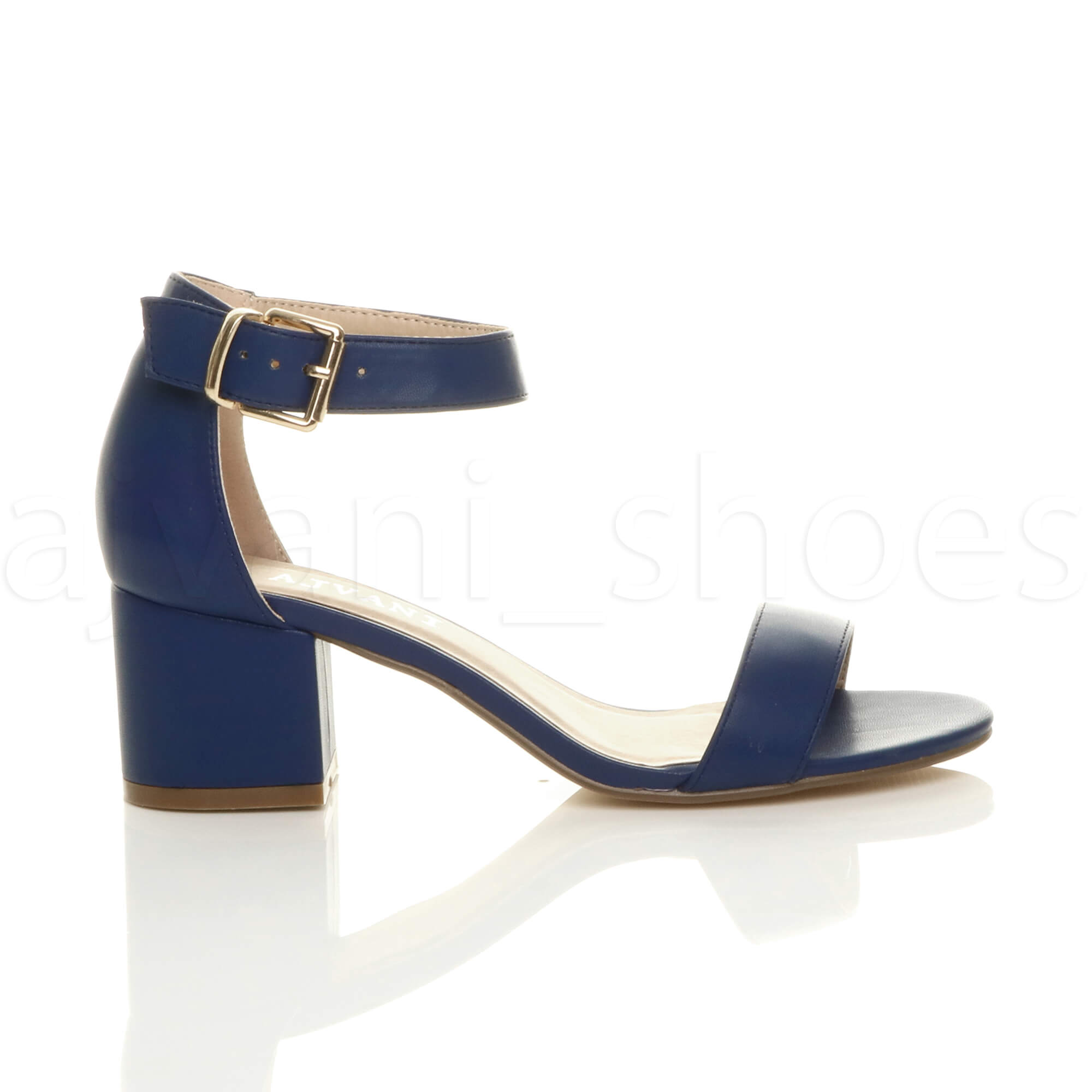 WOMENS-LADIES-LOW-MID-BLOCK-HEEL-ANKLE-STRAP-BUCKLE-PARTY-STRAPPY-SANDALS-SIZE thumbnail 113