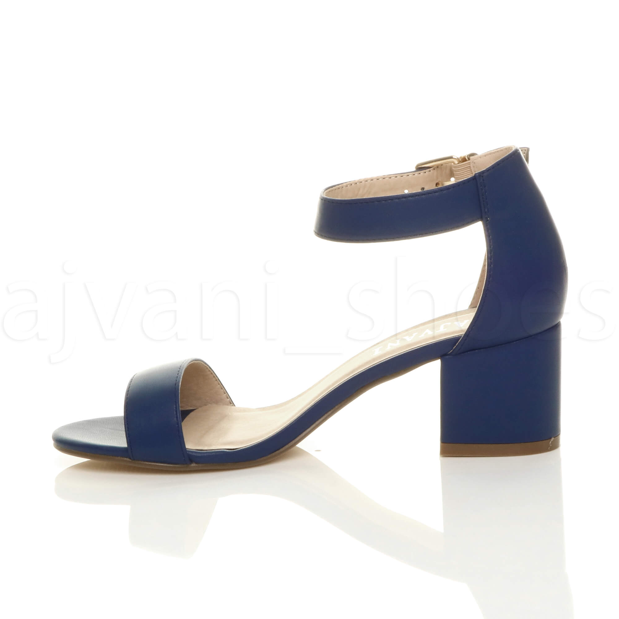 WOMENS-LADIES-LOW-MID-BLOCK-HEEL-ANKLE-STRAP-BUCKLE-PARTY-STRAPPY-SANDALS-SIZE thumbnail 114