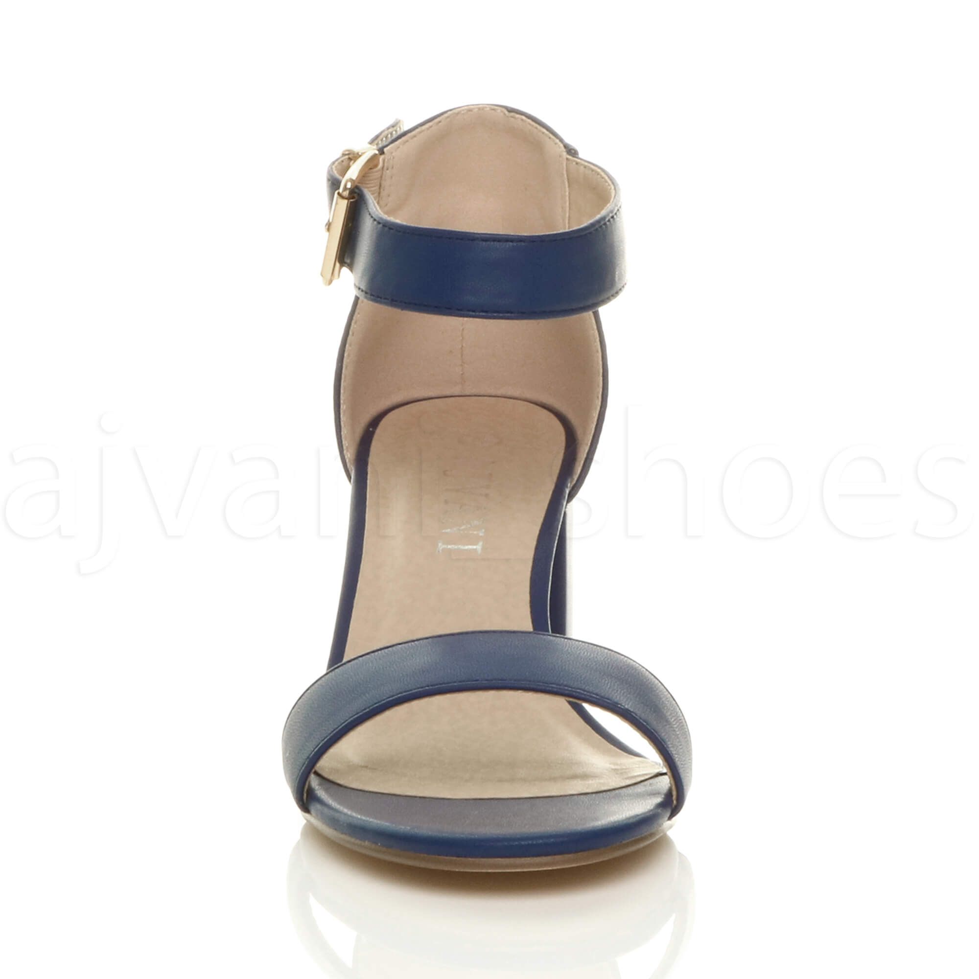 WOMENS-LADIES-LOW-MID-BLOCK-HEEL-ANKLE-STRAP-BUCKLE-PARTY-STRAPPY-SANDALS-SIZE thumbnail 116