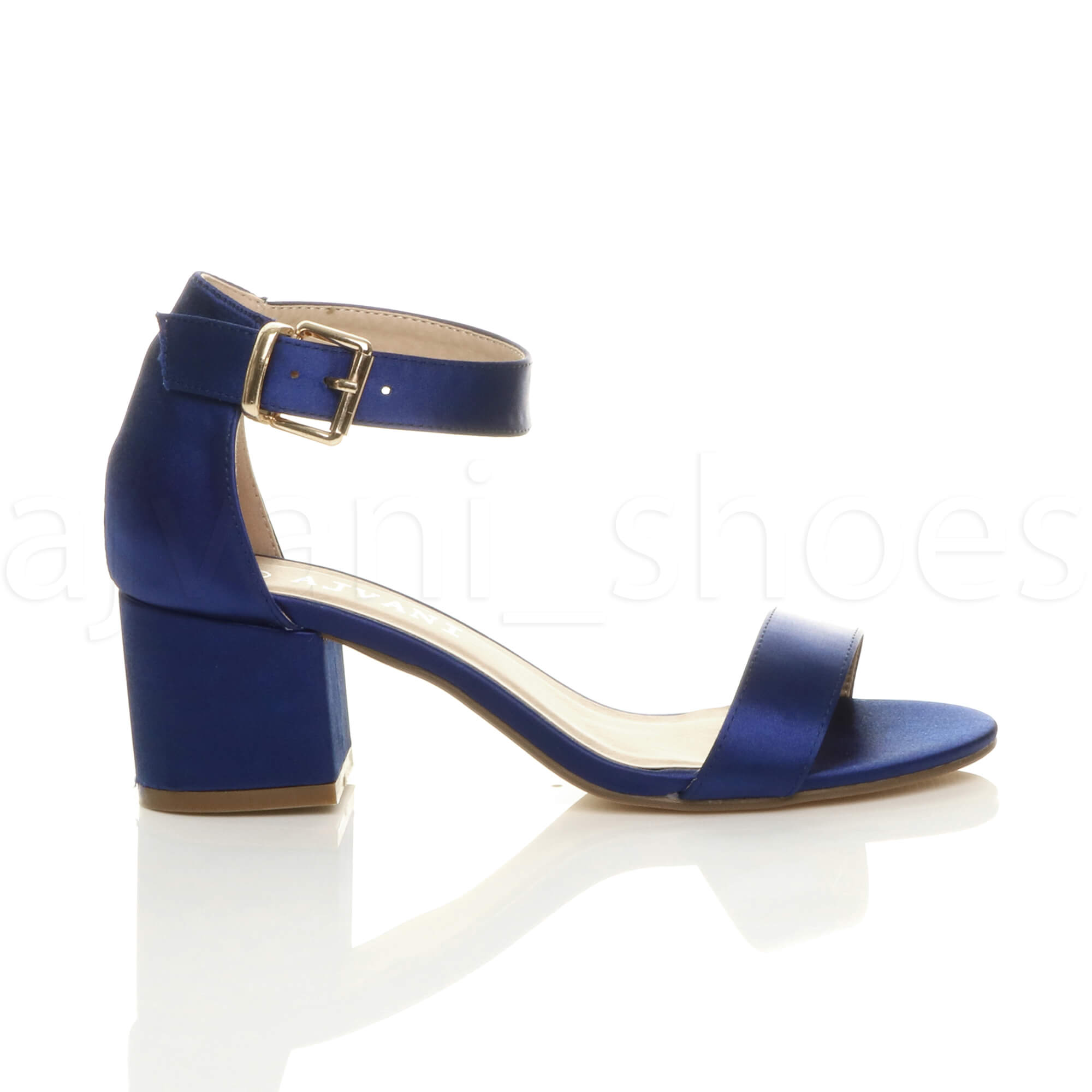 WOMENS-LADIES-LOW-MID-BLOCK-HEEL-ANKLE-STRAP-BUCKLE-PARTY-STRAPPY-SANDALS-SIZE thumbnail 120