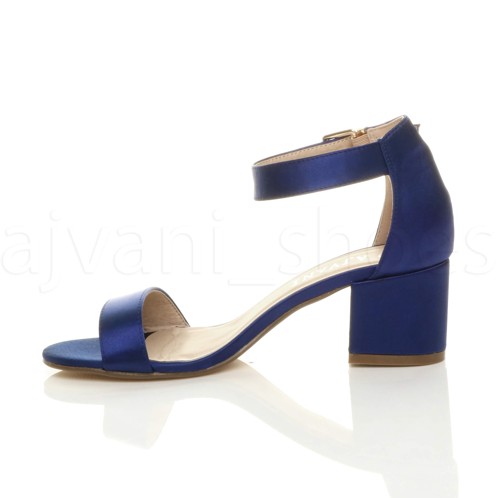 WOMENS-LADIES-LOW-MID-BLOCK-HEEL-ANKLE-STRAP-BUCKLE-PARTY-STRAPPY-SANDALS-SIZE thumbnail 121