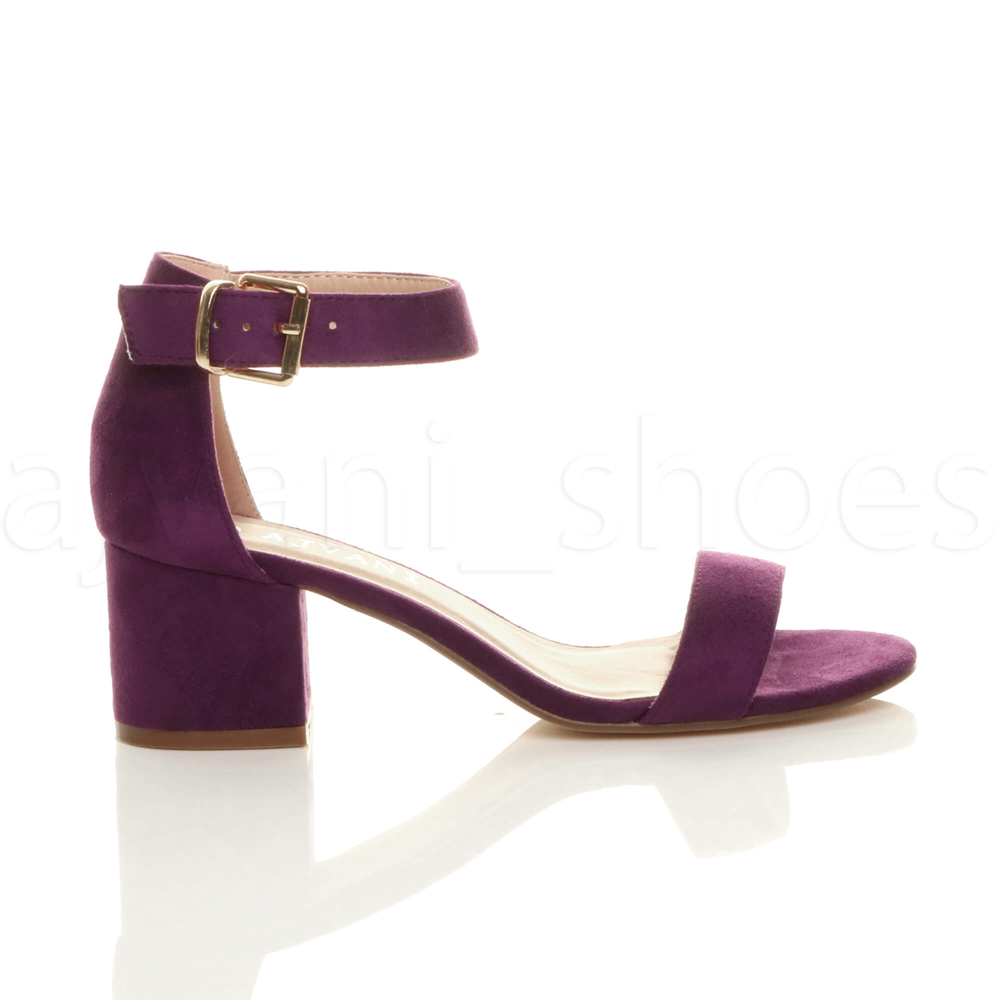 WOMENS-LADIES-LOW-MID-BLOCK-HEEL-ANKLE-STRAP-BUCKLE-PARTY-STRAPPY-SANDALS-SIZE thumbnail 134
