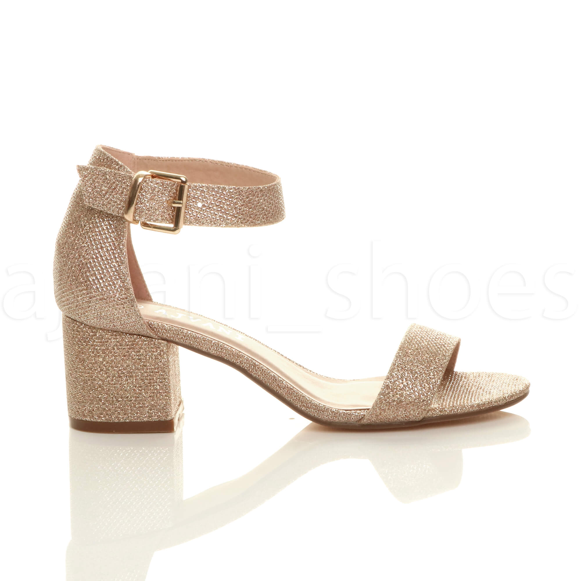 WOMENS-LADIES-LOW-MID-BLOCK-HEEL-ANKLE-STRAP-BUCKLE-PARTY-STRAPPY-SANDALS-SIZE thumbnail 155
