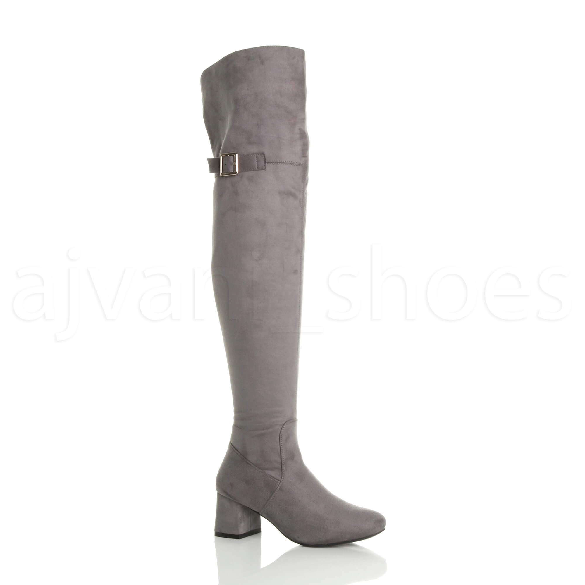WOMENS-LADIES-BLOCK-MID-HEEL-ZIP-BUCKLE-FOLD-OVER-CUFF-OVER-THE-KNEE-HIGH-BOOTS