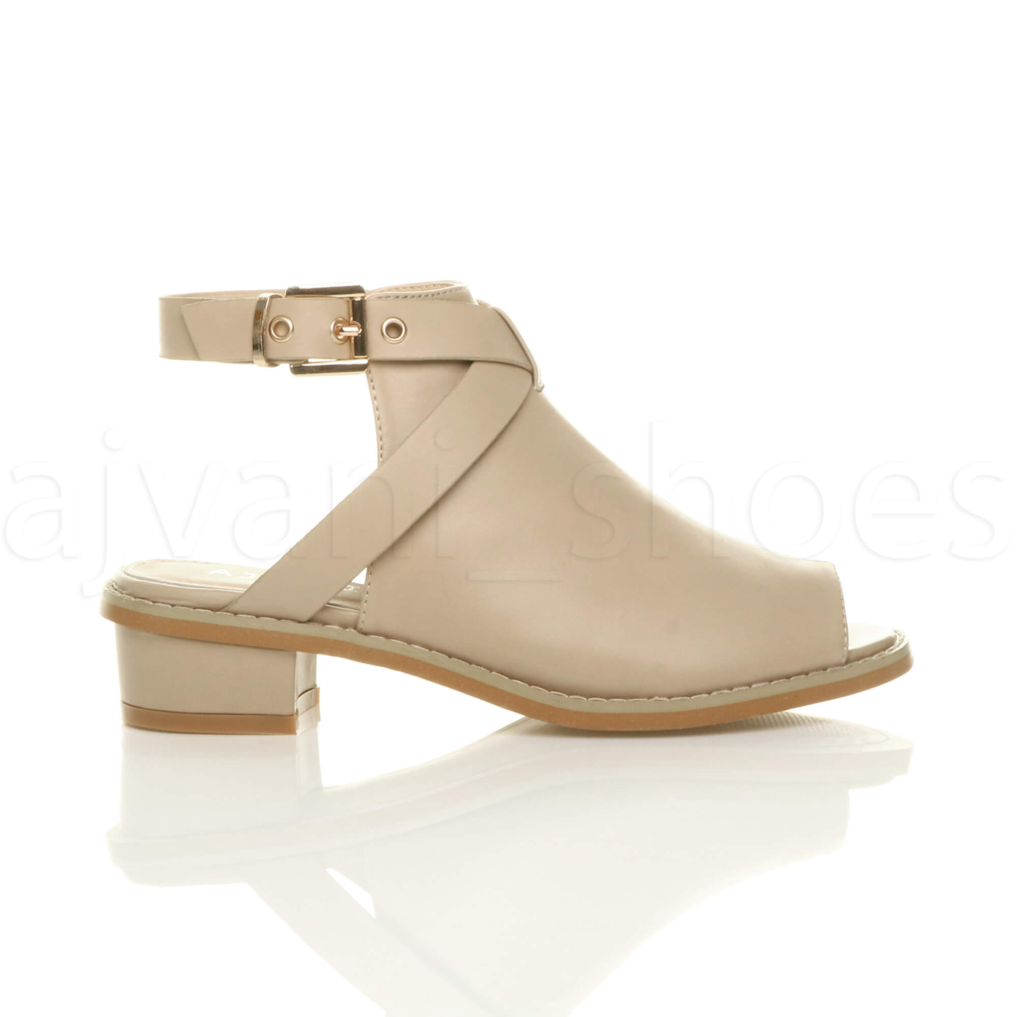 WOMENS-LADIES-LOW-MID-BLOCK-HEEL-PEEP-TOE-ANKLE-STRAP-BOOTS-SHOES-SANDALS-SIZE