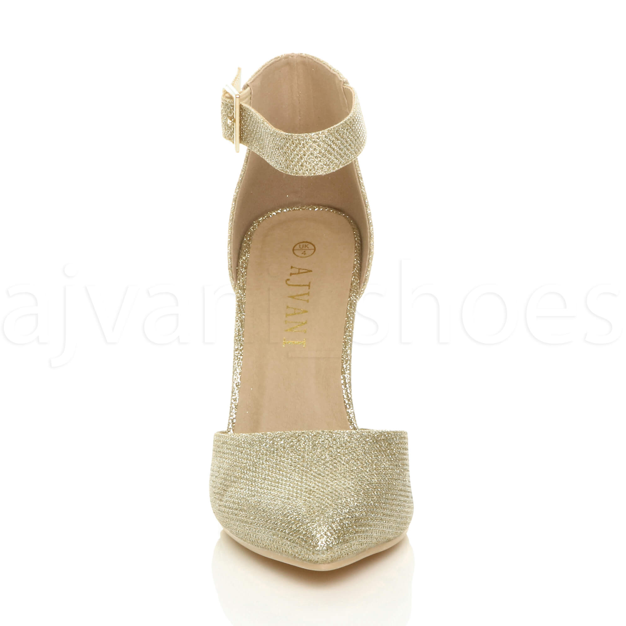 WOMENS-LADIES-HIGH-BLOCK-HEEL-ANKLE-STRAP-BUCKLE-POINTED-COURT-SHOES-SIZE thumbnail 76