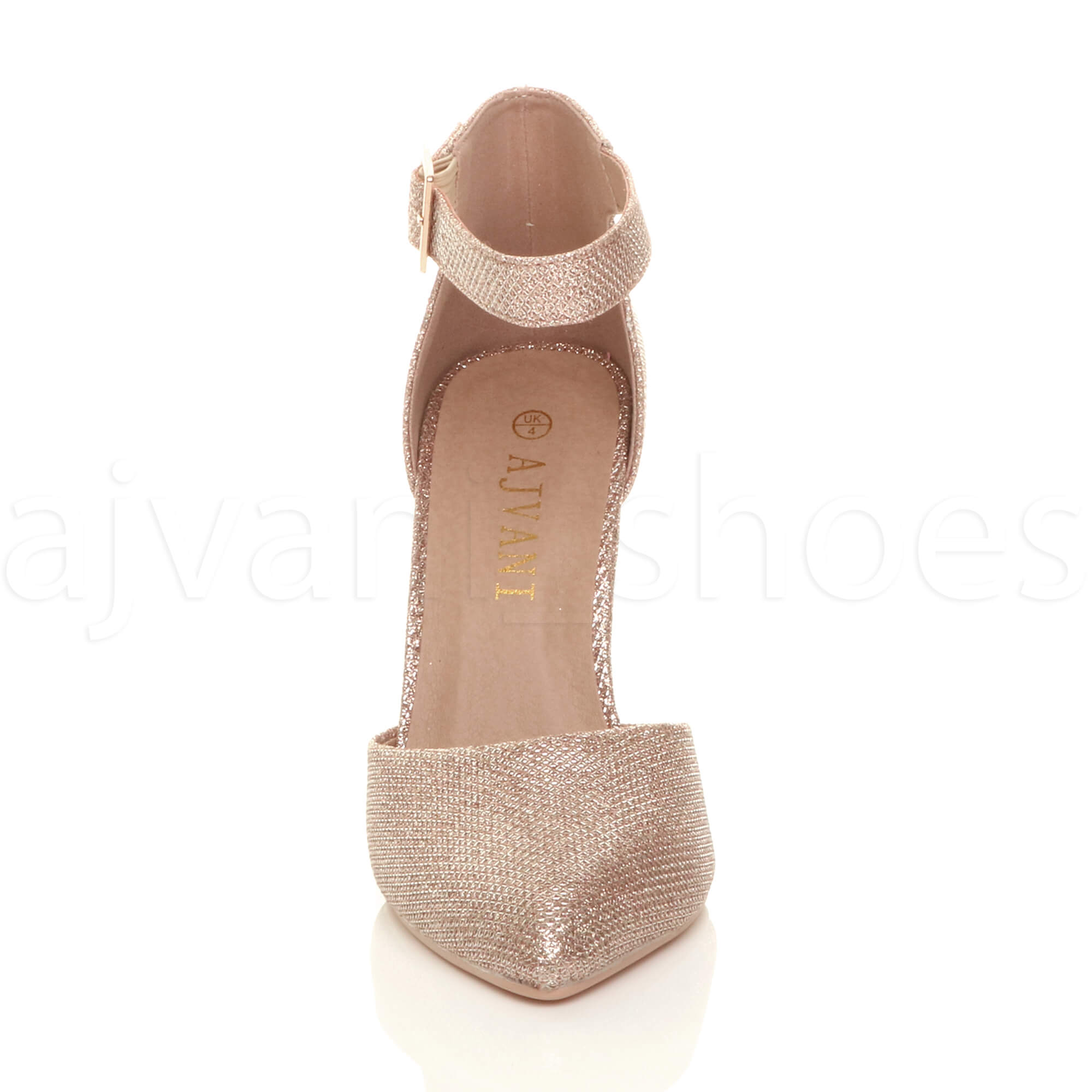 WOMENS-LADIES-HIGH-BLOCK-HEEL-ANKLE-STRAP-BUCKLE-POINTED-COURT-SHOES-SIZE thumbnail 153