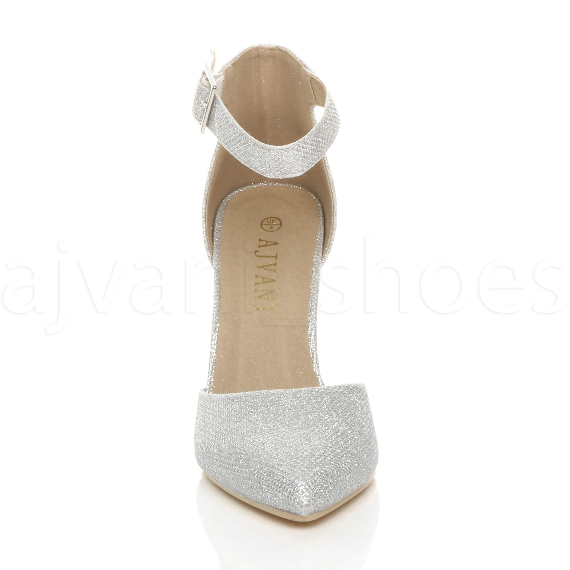 WOMENS-LADIES-HIGH-BLOCK-HEEL-ANKLE-STRAP-BUCKLE-POINTED-COURT-SHOES-SIZE thumbnail 181