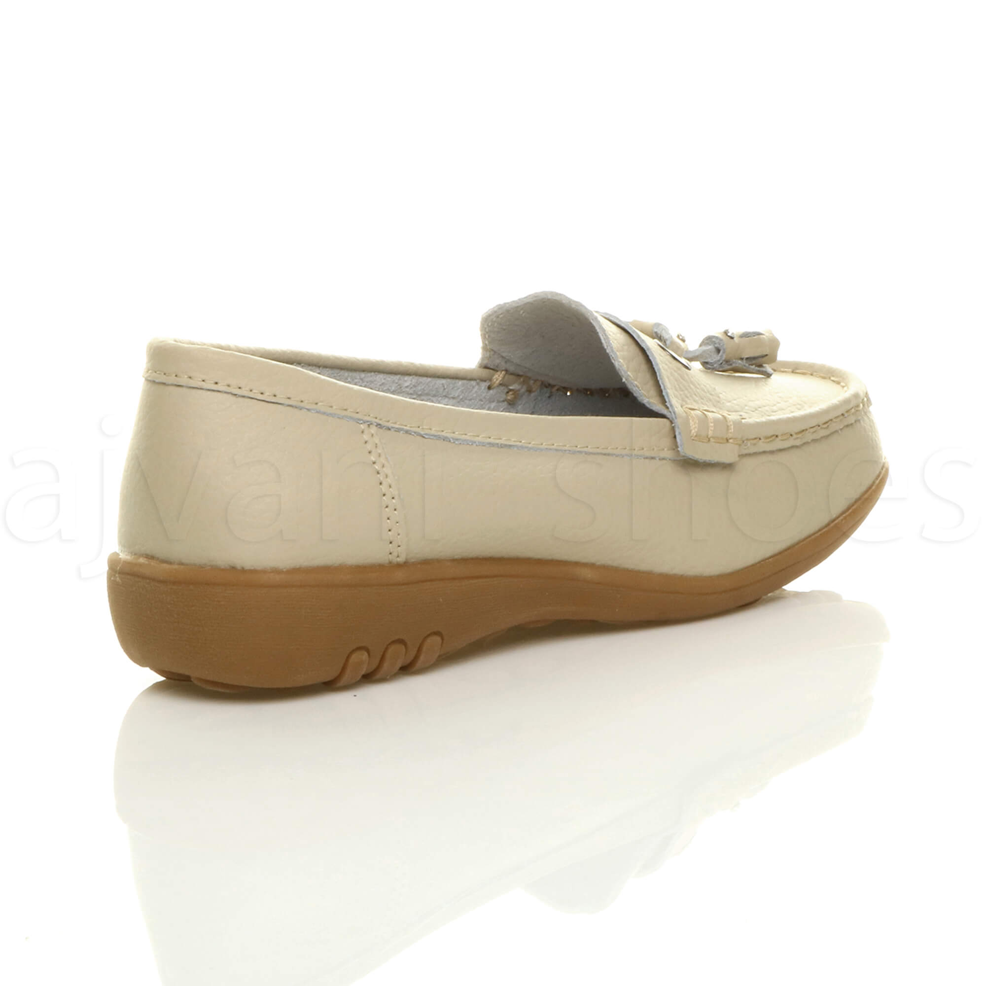 WOMENS-LADIES-LOW-HEEL-WEDGE-LEATHER-TASSEL-LOAFERS-COMFORT-MOCCASINS-SHOES-SIZE thumbnail 5