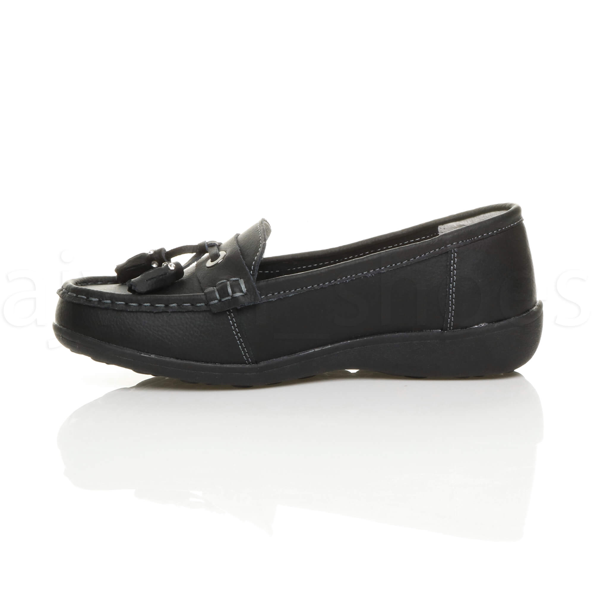WOMENS-LADIES-LOW-HEEL-WEDGE-LEATHER-TASSEL-LOAFERS-COMFORT-MOCCASINS-SHOES-SIZE thumbnail 12