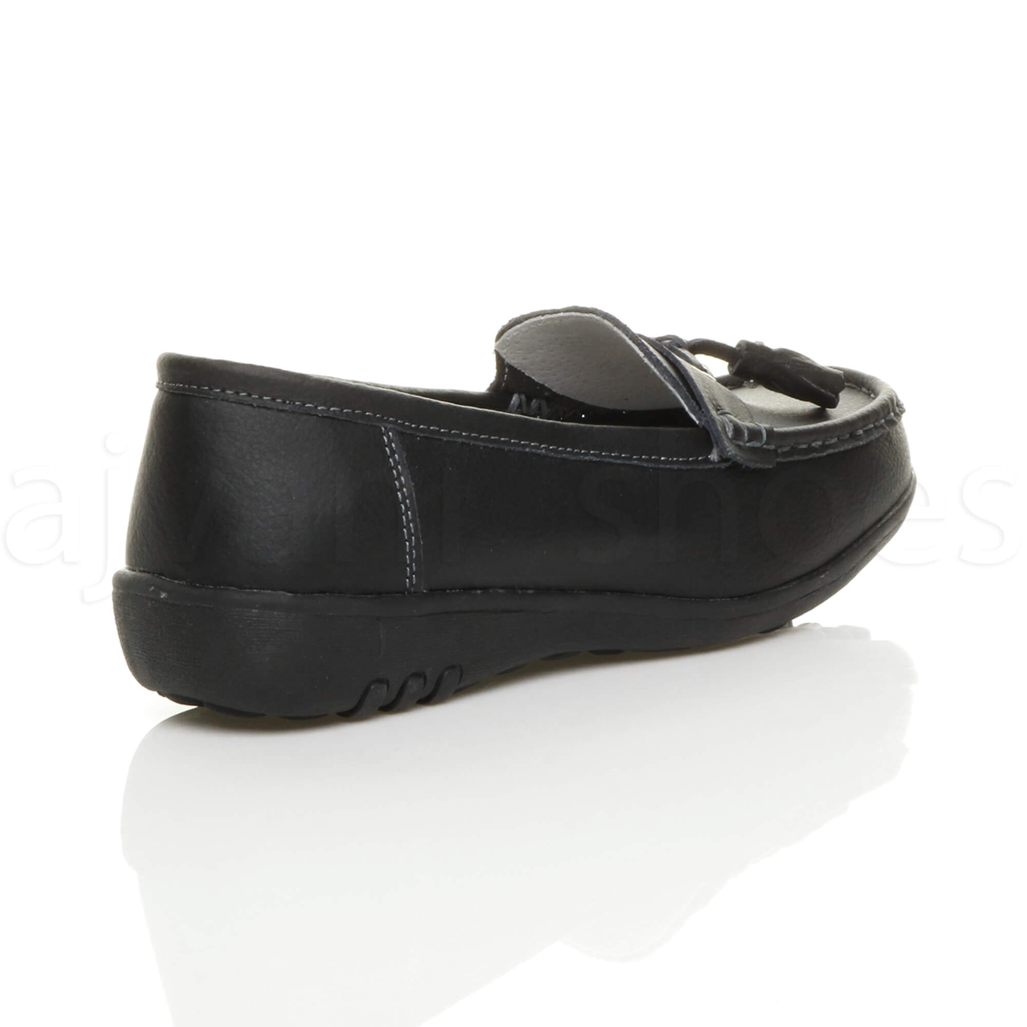 WOMENS-LADIES-LOW-HEEL-WEDGE-LEATHER-TASSEL-LOAFERS-COMFORT-MOCCASINS-SHOES-SIZE thumbnail 13